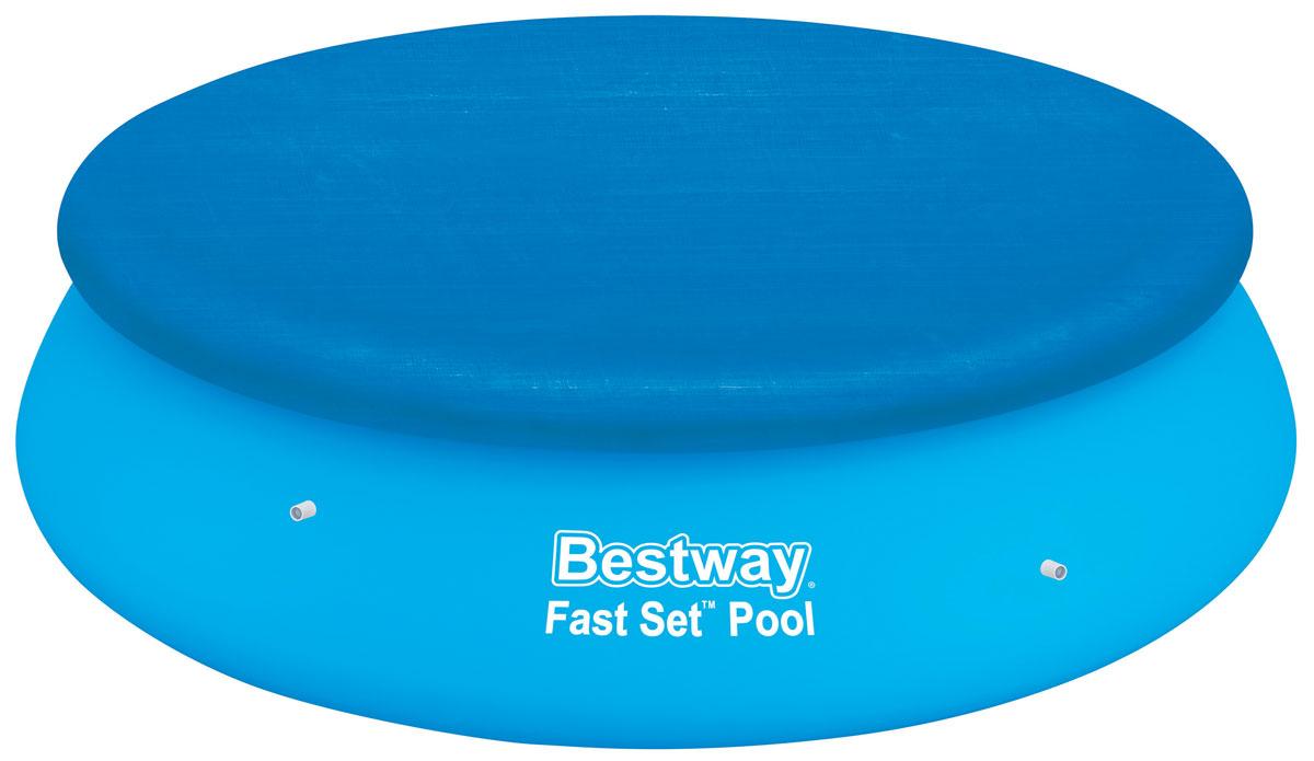 Bestway Тент для бассейнов с надувным бортом, диаметр 335 см. 5803358033Тент Bestway подходит для бассейнов Fast Set диаметром 305 см. Выполнен из высококачественного полиэтилена. В комплекте шнуры для крепления крышки. Сливные отверстия предотвращают скопление воды. Диаметр тента: 335 см. Диаметр бассейна: 305 см.