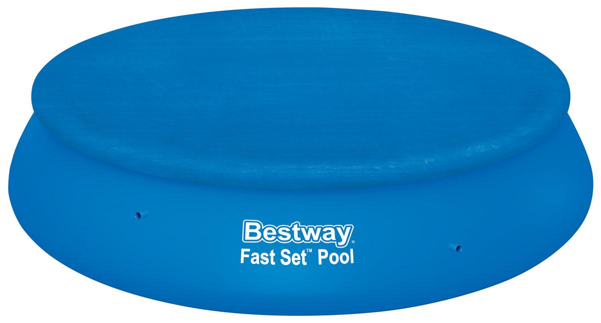 Bestway Тент для бассейнов с надувным бортом, диаметр 380 см. 5803458034Тент Bestway подходит для бассейнов Fast Set диаметром 366 см. Выполнен из высококачественного полиэтилена. В комплекте шнуры для крепления крышки. Сливные отверстия предотвращают скопление воды. Диаметр тента: 380 см. Диаметр бассейна: 366 см.