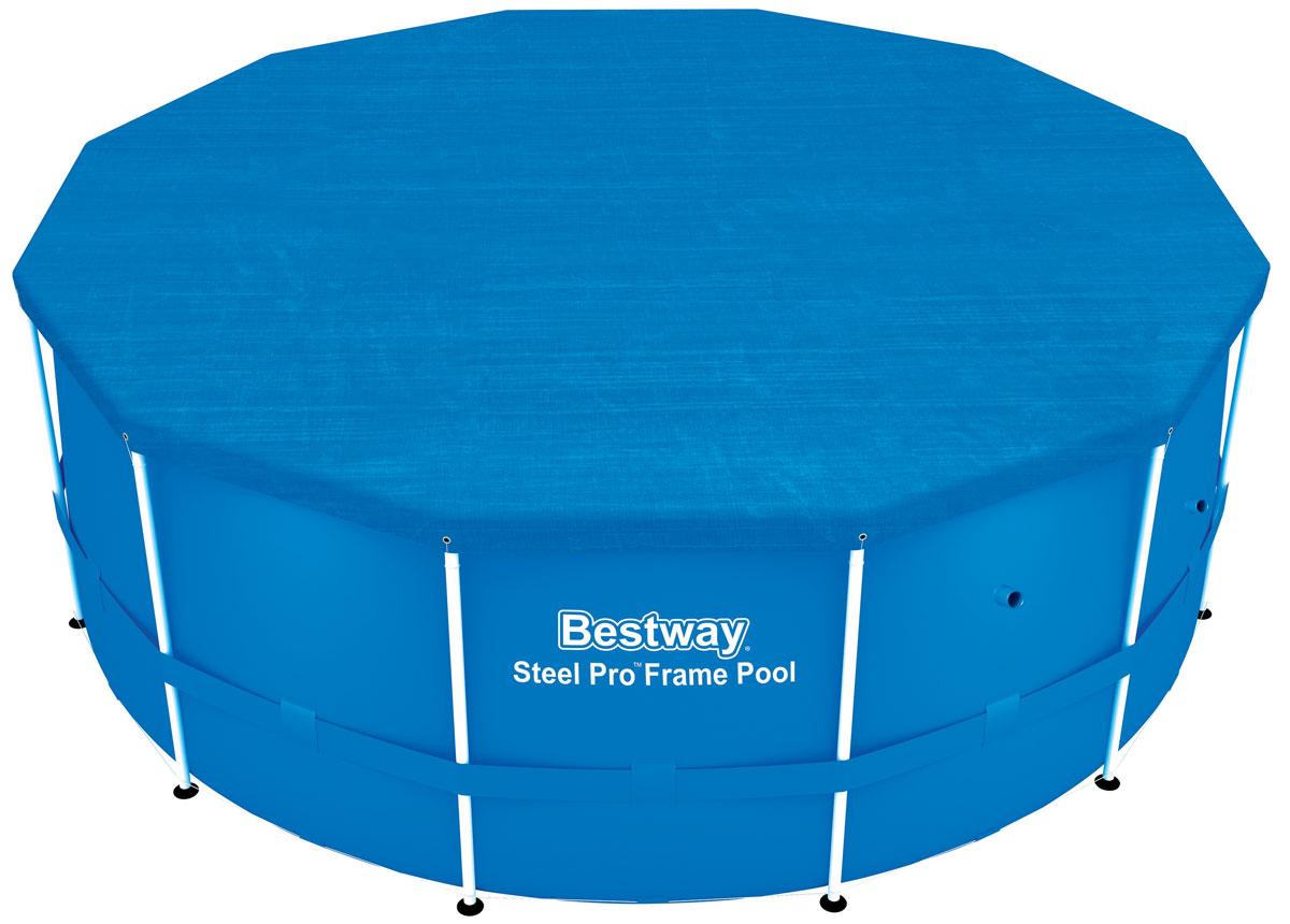 Bestway Тент для каркасных бассейнов, 366 см. 5803758037В комплекте веревки для закрепления тента. Дренажные отверстия для предотвращения накопления воды.