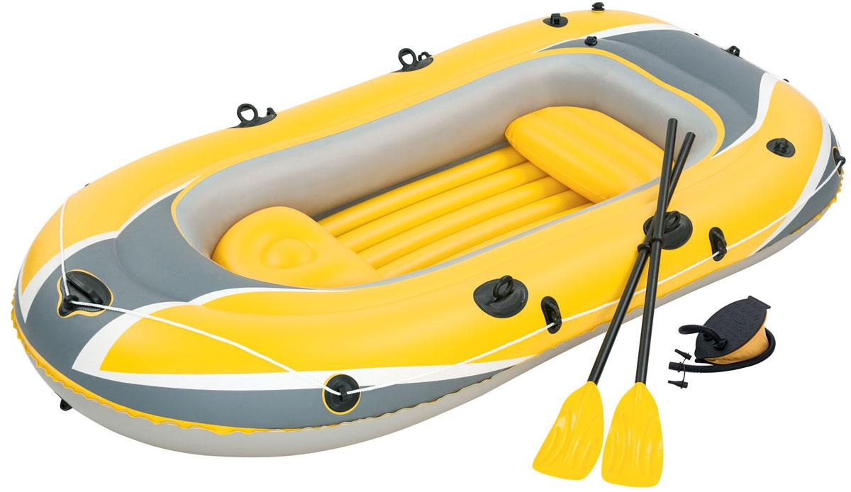 Лодка надувная Bestway Hydro-Force, с веслами и насосом, 255 х 127 см61068Надувная лодка Bestway Hydro-Force выполнена из прочного винила. Быстрое надувание и сдувание производится через завинчивающиеся воздушные клапаны. Надувное дно обеспечивает повышенный комфорт. Особенности лодки: Размер в сдутом виде: 262 х 145 см. Размер в надутом виде: 255 х 127 см. Предохранительные клапаны. 3-камерная конструкция. Шнур вокруг, продетый через встроенные в люверсы. Надувные подушки сидений. Отверстия для крепления мотора. Особо прочная ручка. Прочные уключины. Рым для буксировки. Длина весел: 124 см. Размер насоса: 23 х 15 см.