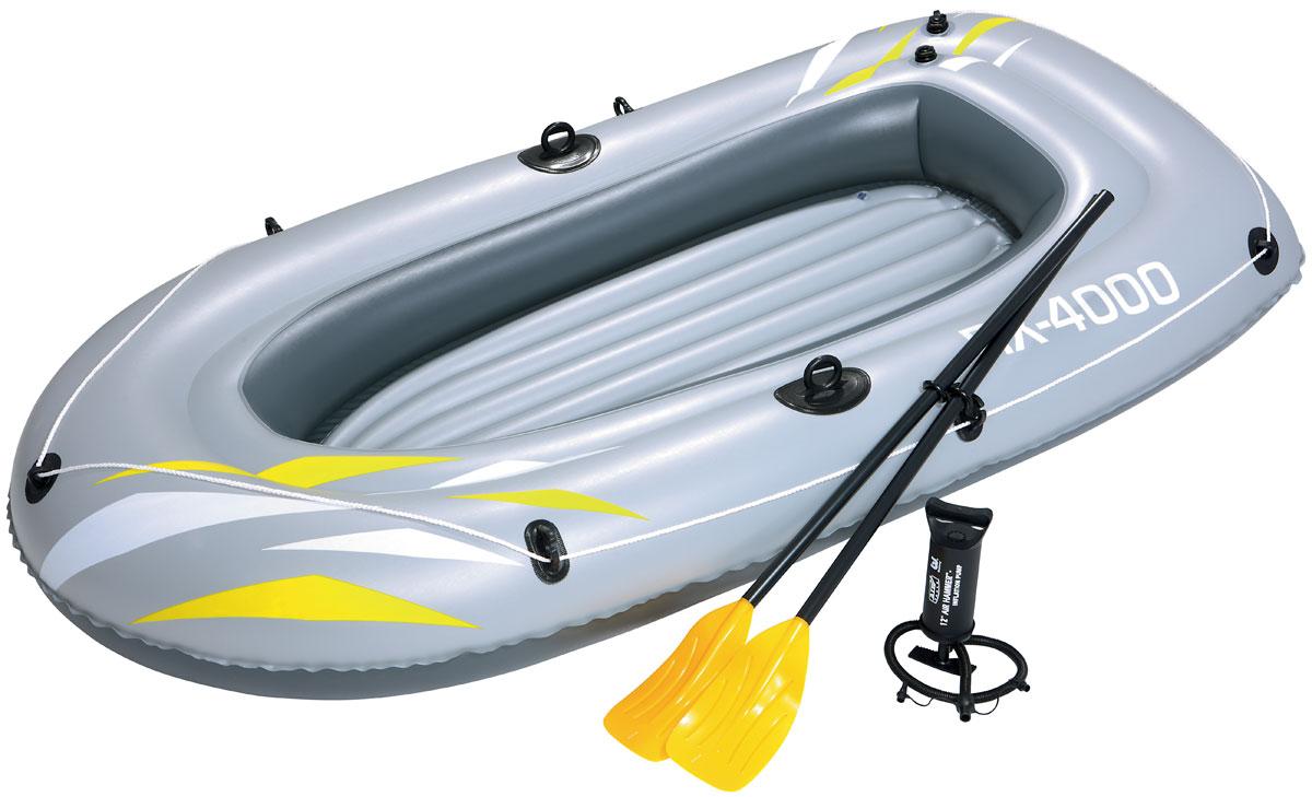 """Bestway Лодка надувная """"Hydro-Force RX-4000 Raft Set"""", с веслами и насосом, 223 х 110 см. 61107"""