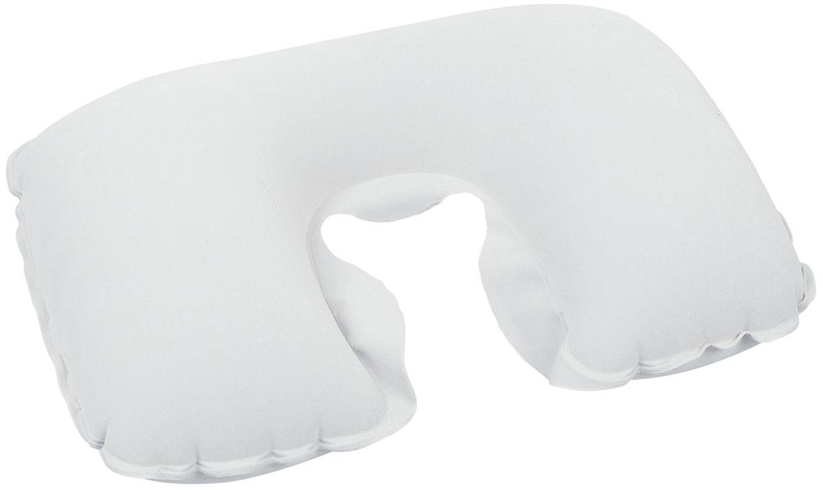 Bestway Подушка надувная под шею, цвет: белый, 46 х 28 см. 67006
