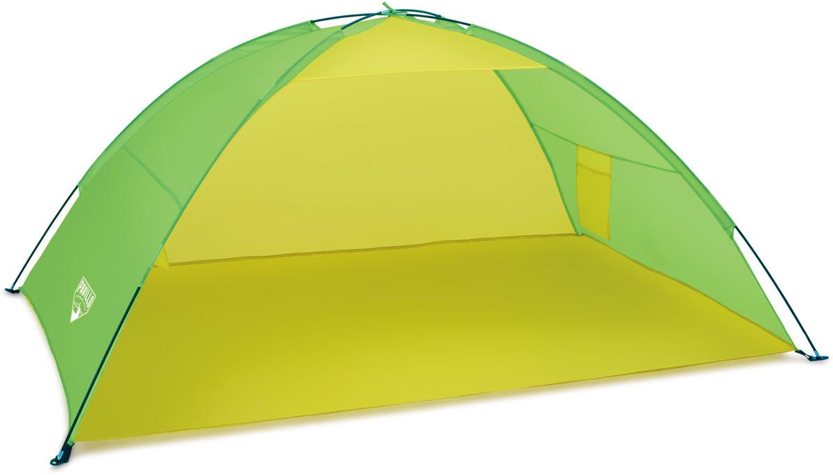 Bestway Палатка пляжная, 200 х 130 х 90 см. 6804468044Изготовлено из полиэстера и полимерных материалов. Легко собирается. Внутри кармашек для хранения личных вещей. Размер: 1,92 х 1,2 х 0,85 м.