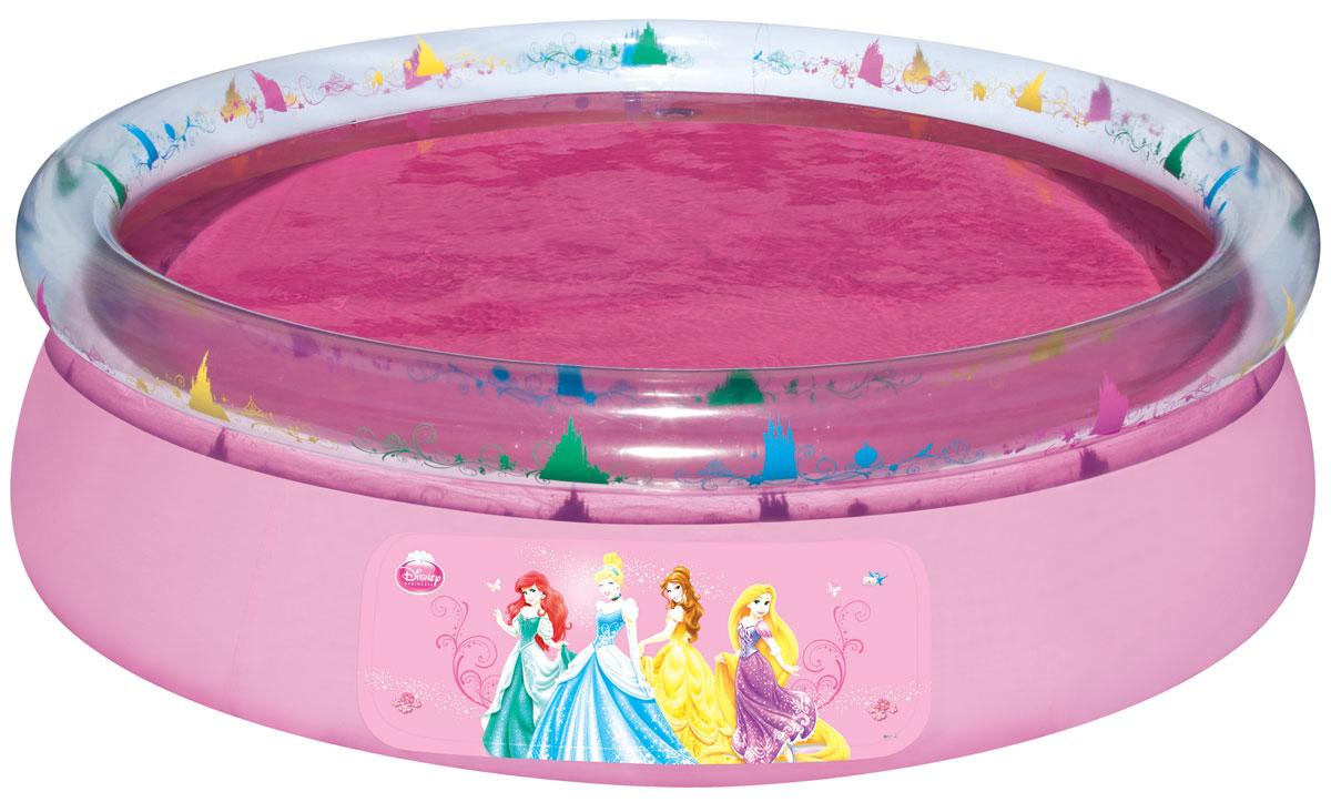 Bestway Бассейн надувной Disney Princess. 9105291052Надувной бассейн Bestway Disney Princess изготовлен из высококачественного винила и украшен изображением очаровательных принцесс. Бассейн оснащен прочными трехслойными боковыми стенками. Имеется сливной клапан с регулировкой потока для удобного выливания воды. К клапану присоединяется садовый шланг, чтобы воду можно было слить из бассейна. Яркий дизайн бассейна сделает его не только незаменимым атрибутом летнего отдыха, но и дополнением ландшафтного дизайна участка. В комплект с бассейном входит специальная заплата для ремонта в случае прокола.