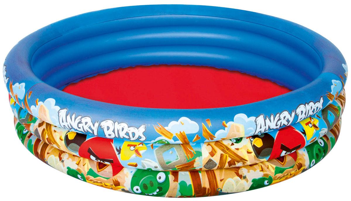 Bestway Бассейн надувной Angry Birds, 152 х 152 х 30 см. 9610896108Круглый надувной бассейн Bestway Angry Birds будет просто незаменим в летний жаркий день на открытом воздухе. Бассейн круглой формы выполнен из прочного винила различных цветов. Упругие стенки бассейна представляют собой три кольца, оформленные изображениями персонажей популярной игры Angry Birds. Яркий дизайн бассейна сделает его не только незаменимым атрибутом летнего отдыха, но и дополнением ландшафтного дизайна участка. В комплект с бассейном входит специальная заплата для ремонта в случае прокола.