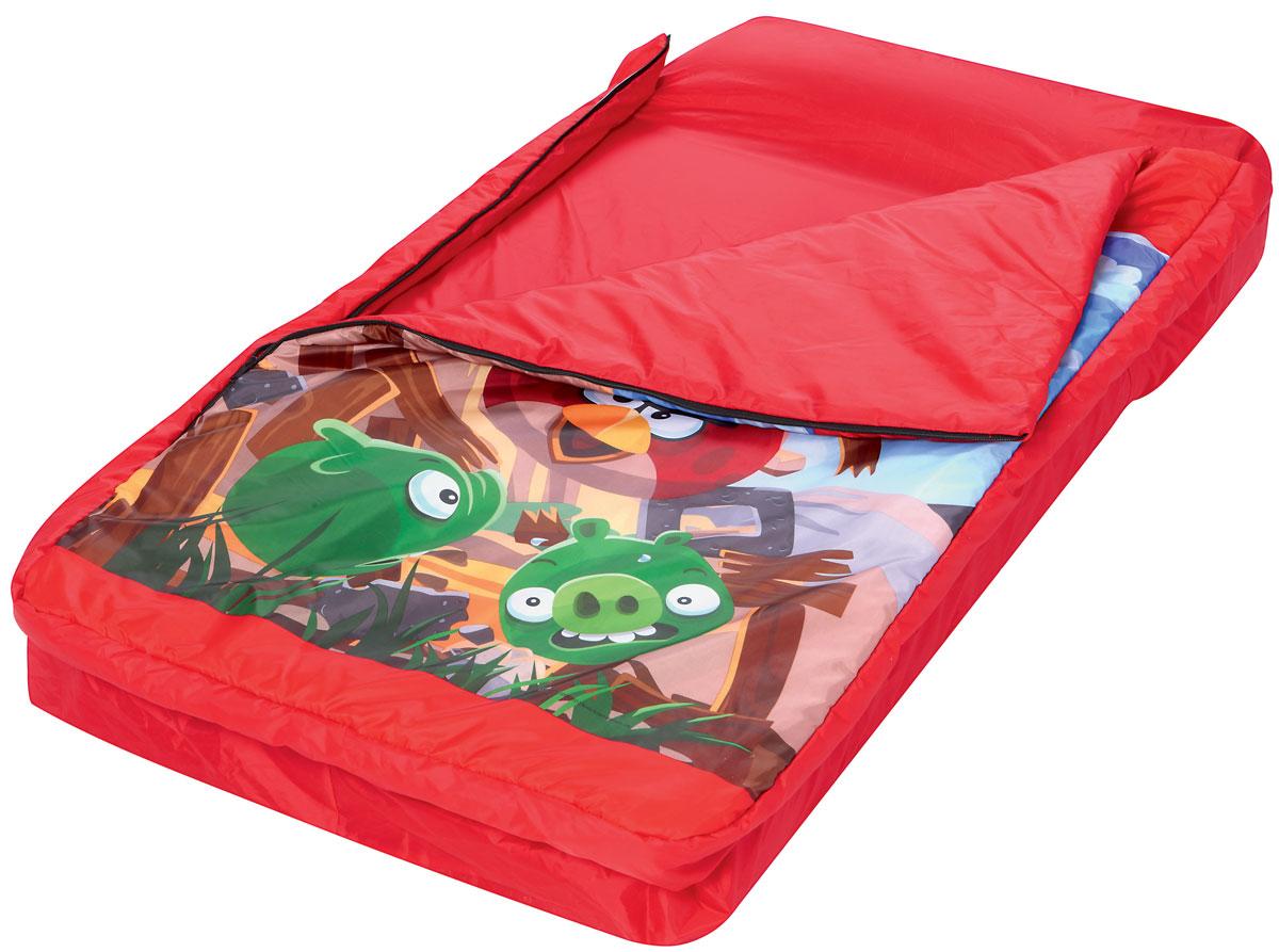 Bestway Кровать надувная Angry Birds, со спальным мешком. 9611496114Кровать надувная Bestway Angry Birds проста в использовании, очень комфортная, не занимает много места при хранении. Кровать выполнена из прочного, испытанного винила. Быстро надувается и сдувается. Кровать имеет удобную флокированную поверхность для сна и встроенную подушку. Надувная кровать и спальный мешок могут быть использованы совместно или по отдельности. Спальный мешок изготовлен из 100 % полиэстера. Отлично подходит для использования в помещении. Спальный мешок украшен знаменитыми героями из игры Angry Birds. В комплект также входит прочная заплата для ремонта.
