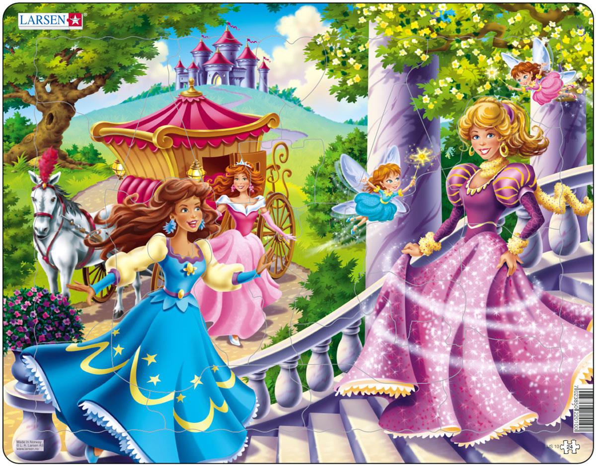 Larsen Пазл Принцессы US10US10Пазл Larsen Принцессы US10 демонстрирует, как очаровательные юные принцессы в сопровождении крохотных фей спешат поскорее попасть на сказочный бал. Выполненные из высококачественного трехслойного картона, пазлы не деформируются и легко берутся в руки. Все пазлы снабжены специальной подложкой, благодаря чему их удобно собирать. Размер готового пазла: 36,5 см х 28,5 см.