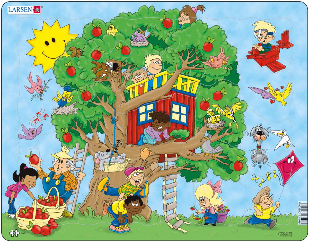 Larsen Пазл ДеревоBM1Пазл Larsen Дерево станет отличным развлечением для вашего ребенка. На картинке изображено большое дерево, а также множество дополнительных деталей и персонажей, которые делают сборку пазла еще более увлекательным занятием. По готовому изображению можно составить развернутый рассказ с упоминанием представленных героев. Выполненные из высококачественного трехслойного картона, пазлы Larsen не деформируются. Все пазлы снабжены специальной подложкой, благодаря чему их удобно собирать. Игра с пазлами благоприятно влияет на развитие ребенка. Веселая игра сопровождается манипуляциями с мелкими предметами, сопоставлением и сложением деталей, в результате чего развивается сенсорное восприятие и мелкая моторика. Порадуйте своего малыша таким замечательным подарком!