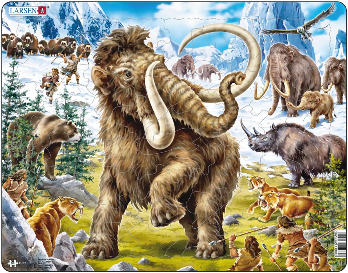 Larsen Пазл МамонтFH27Пазлы Ларсен направлены, прежде всего, на обучение. Пазл Larsen Мамонт с изображением мамонта, других доисторических животных и древних людей понравится собирать всем поклонникам доисторических времен. Выполненные из высококачественного трехслойного картона, пазлы не деформируются и легко берутся в руки. Все пазлы снабжены специальной подложкой, благодаря чему их удобно собирать. Размер готового пазла: 36,5 см х 28,5 см.