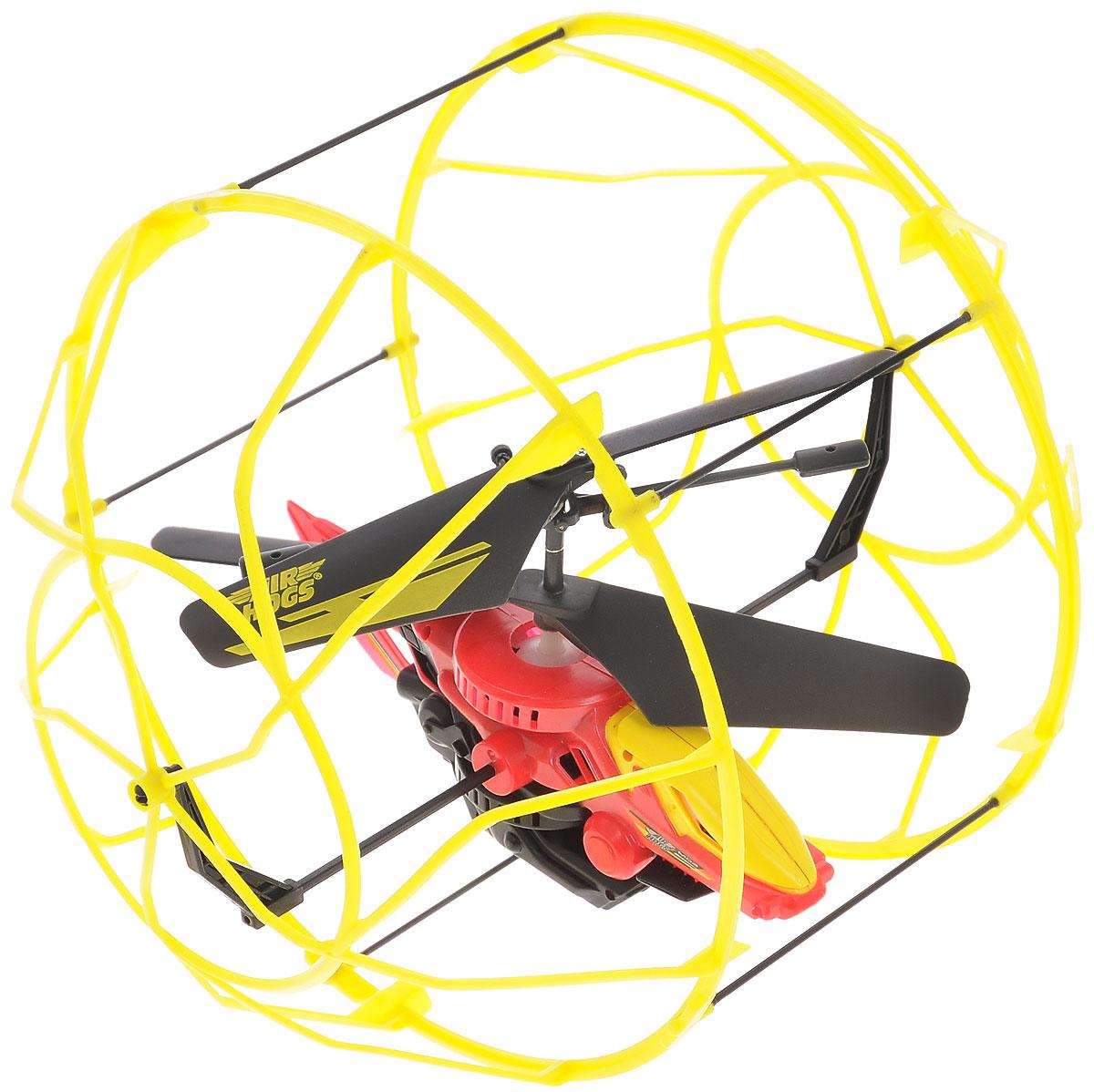 Air Hogs Вертолет на радиоуправлении Roller Copter цвет желтый красный44501_желтыйВертолет в клетке - очередное чудо техники от AirHogs. Этот уникальный вертолет защищен наружной клеткой, которая создает барьер между ним и поверхностью или предметами. Клетка вращается вокруг вертолета, что позволяет ему будто бы забираться на стену. Модель хорошо подойдет новичкам в управлении вертолетами, с помощью которой они будут практиковаться с минимальными повреждениями игрушки. Питание игрушки осуществляется с помощью литий-полимерного аккумулятора с напряжением 3,7 В. Время зарядки - около 30 минут. Для работы пульта необходимо докупить 6 батареек типа АА (не входят в комплект).