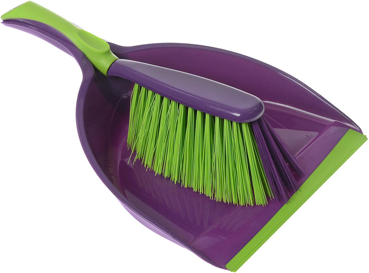 Набор для уборки York Prestige, цвет: фиолетовый, салатовый, 2 предмета6207Набор для уборки York Prestige состоит из совка и щетки, изготовленных из высококачественного пластика. Вместительный совок удерживает собранный мусор, позволяет эффективно и быстро совершать уборку в любом помещении. Прорезиненный край совка обеспечивает наиболее плотное прилегание к полу. Щетка имеет удобную форму, позволяющая вымести мусор даже из труднодоступных мест. Совок и щетки оснащены ручками с отверстиями для подвешивания. С набором York Prestige уборка станет легче и приятнее. Общая длина щетки: 28 см. Размер рабочей части щетки: 16 см х 7 см х 6,5 см. Длина совка: 32 см. Размер рабочей части совка: 20 см х 12 см х 6 см.