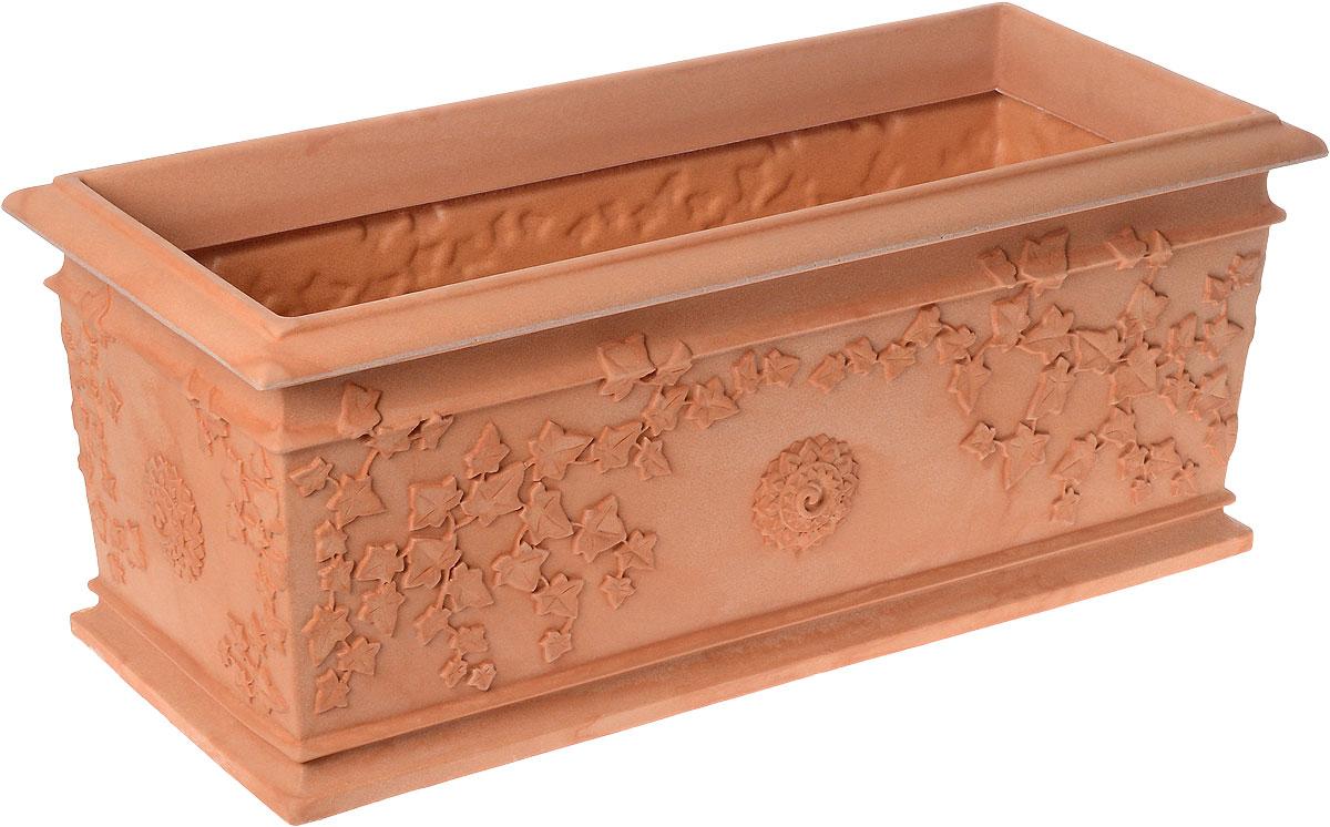 Ящик балконный Bama Фестонато, цвет: кирпичный, 80 см х 34 см х 33 см35380Балконный ящик Bama Фестонато изготовлен из высококачественного прочного пластика. Изделие имеет изысканную форму и элегантный внешний вид. Такой ящик прекрасно подойдет для выращивания цветов и рассады как на балконе, так и в комнатных условиях. Классический дизайн впишется в любой интерьер. Объем: 75 л.