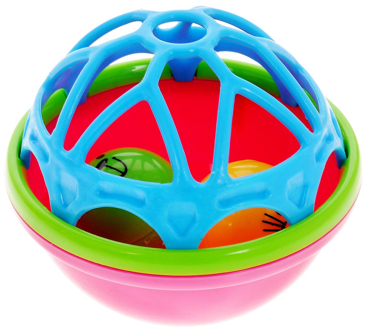 Mioshi Погремушка для ванной Лучшие друзья цвет голубой розовыйTY9066С красочной погремушкой Лучшие друзья повседневное купание в ванной превратится для малышей в веселую забаву со всевозможными игровыми возможностями! Забавные гремящие звуки издают шарики, вращающиеся в центре погремушки. Игрушка приятна на ощупь и имеет удобную для захвата маленькими пальчиками эргономичную форму. Игрушки от Mioshi помогают малышам быстрее приспосабливаться к водной среде, а процесс принятия водных процедур делают веселым и увлекательным. Игра с погремушкой способствует развитию мелкой моторики, восприятия формы и цвета предметов, а также слуха и зрения. Выполнена погремушка из прочного, экологически чистого и высококачественного материала, абсолютно безопасного для детской игры.