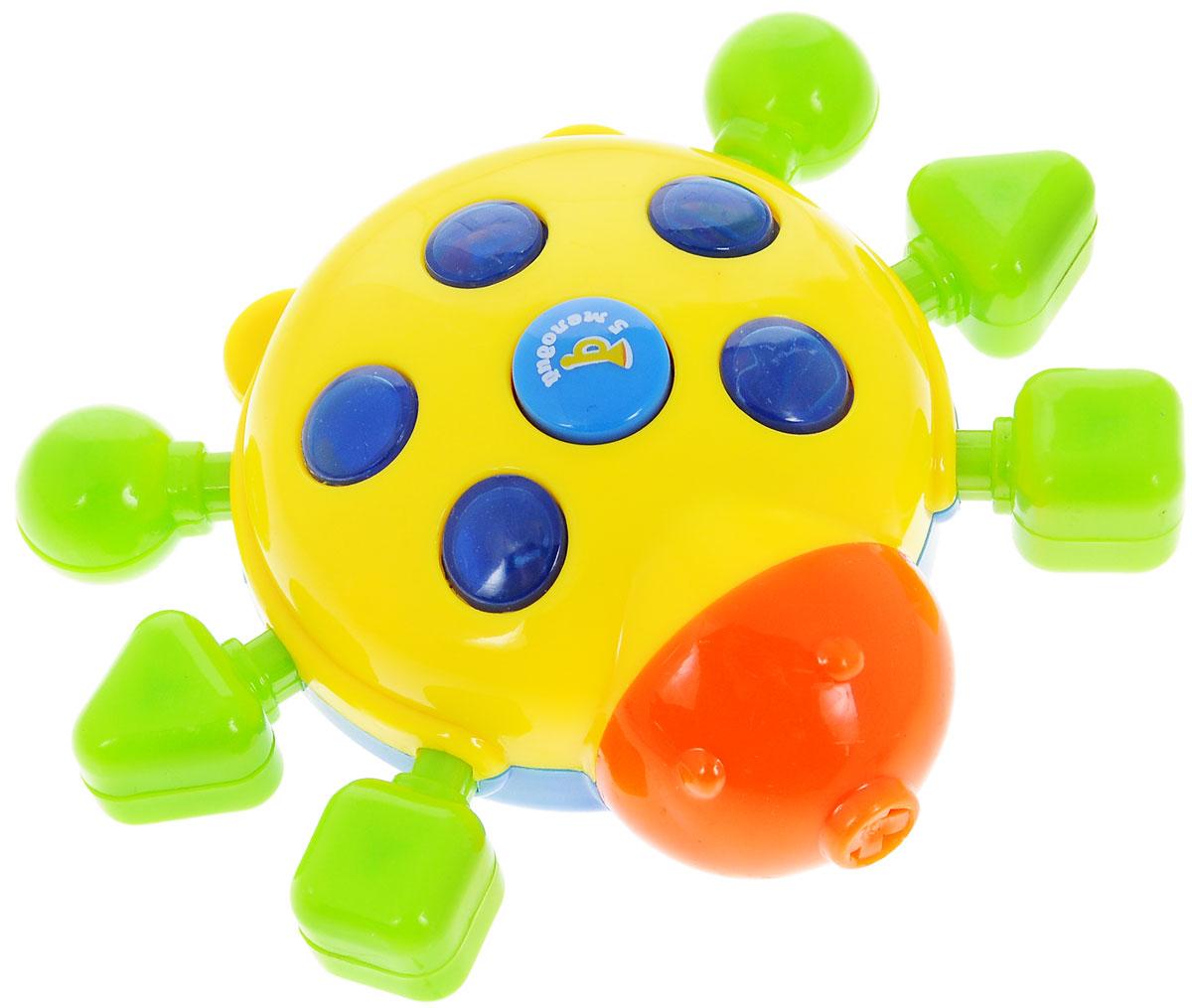Малышарики Развивающая игрушка Божья коровка цвет желтыйMSH0303-004Развивающая игрушка Малышарики Божья коровка, выполненная из безопасных материалов, поможет малышу ближе познакомиться с миром звуков и цветов. Игрушка выполнена в виде божьей коровки с лапками различной формы. Игровая панель снабжена световыми и звуковыми эффектами. Игрушка Малышарики Божья коровка развивает мелкую моторику, слуховое восприятие, концентрацию внимания и логическое мышление. Рекомендуемый возраст от 1 до 3 лет. Рекомендуется докупить 3 батарейки типа AG13 (товар комплектуется демонстрационными).