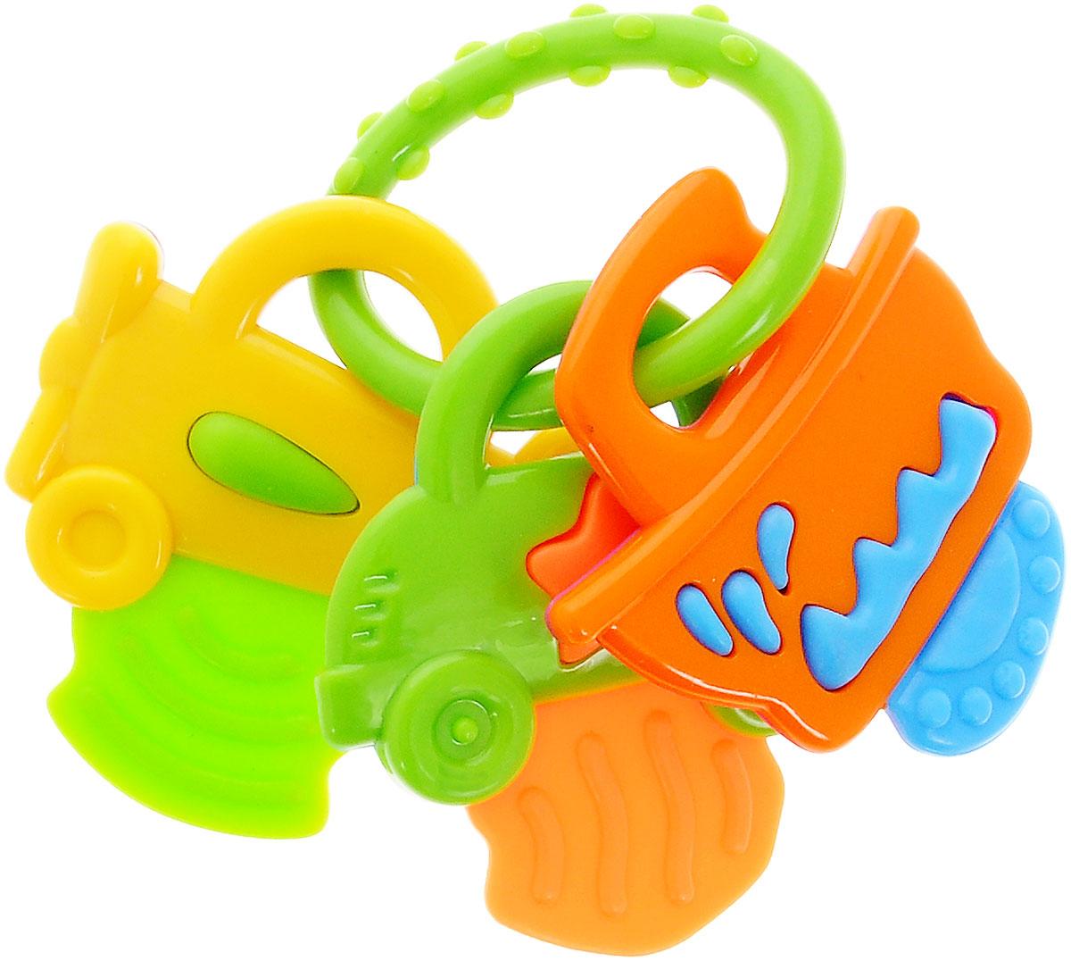 Mioshi Прорезыватель Машинки цвет салатовыйTY9043_зеленыйПогремушка Mioshi Машинки - важная игрушка для малышей, у которых режутся зубки. В эти моменты так хочется что-то грызть, и хорошо, если есть прорезыватель из безвредных материалов, который облегчит эти неприятные минуты! У этой погремушки такое удобное кольцо для захвата и ее приятно держать в руках! Дети в раннем возрасте всегда очень любознательны, они тщательно исследуют все, что попадает им в руки. > Игра с погремушкой способствует развитию мелкой моторики, восприятия формы и цвета предметов, а также слуха и зрения. Заботясь о здоровье и безопасности малышей, Mioshi выпускает только качественную продукцию, которая прошла сертификацию.