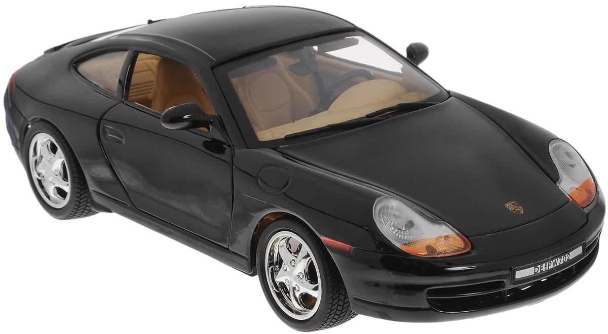 Autotime Модель автомобиля Porsche 911 цвет черный73101/2001_черныйAutotime Коллекционная модель Porsche 911 выполнена из металла с элементами пластика и представляет собой уменьшенную одноименную копию автомобиля. Модель отличается отличным качеством исполнения и детализацией высшего уровня. Масштаб и высокотехнологичное оборудование позволяют передать все тонкости и нюансы настоящей машины. Прорезиненные колеса крутятся при повороте руля, у машины открываются багажник, двери и капот. Модель помещена на пластиковую подставку, дополненную надписью с названием автомобиля. Коллекционная модель автомобиля Autotime Porsche 911 понравится вашему ребенку и станет достойным экспонатом любой коллекции.