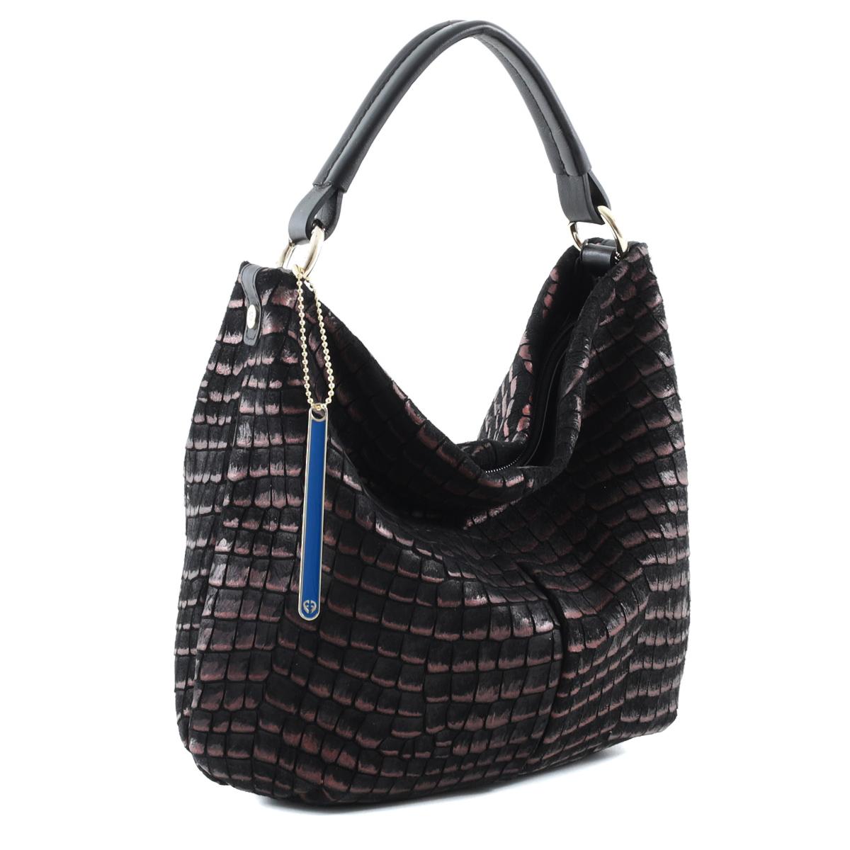 Сумка женская Fiato, цвет: черный, бронзовый. 2893