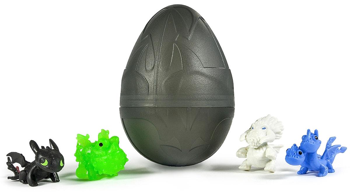Dragons Набор фигурок Драконы в яйце цвет черный66603_черныйНабор фигурок Dragons Драконы в яйце станет восхитительным сюрпризом для вашего малыша и подарит ему множество счастливых мгновений. Очаровательные малыши дракончики, спрятанные в яйце - что может быть милее? Миниатюрные фигурки любимых героев анимационного фильма Как приручить дракона несомненно порадуют всех поклонников приключений Иккинга и его друзей. В набор входят 4 разных дракончика, выполненных из яркого цветного пластика и пластмассовое яйцо. Под скорлупой яйца можно обнаружить Беззубика, Громгильду, громмеля Сардельку, Кривоклыка и других любимых персонажей. Одна фигурка расположена снаружи, а 3 спрятаны внутри яйца, ведь все малыши обожают сюрпризы! Собери всю разноцветную компанию драконов и играй вместе с друзьями!