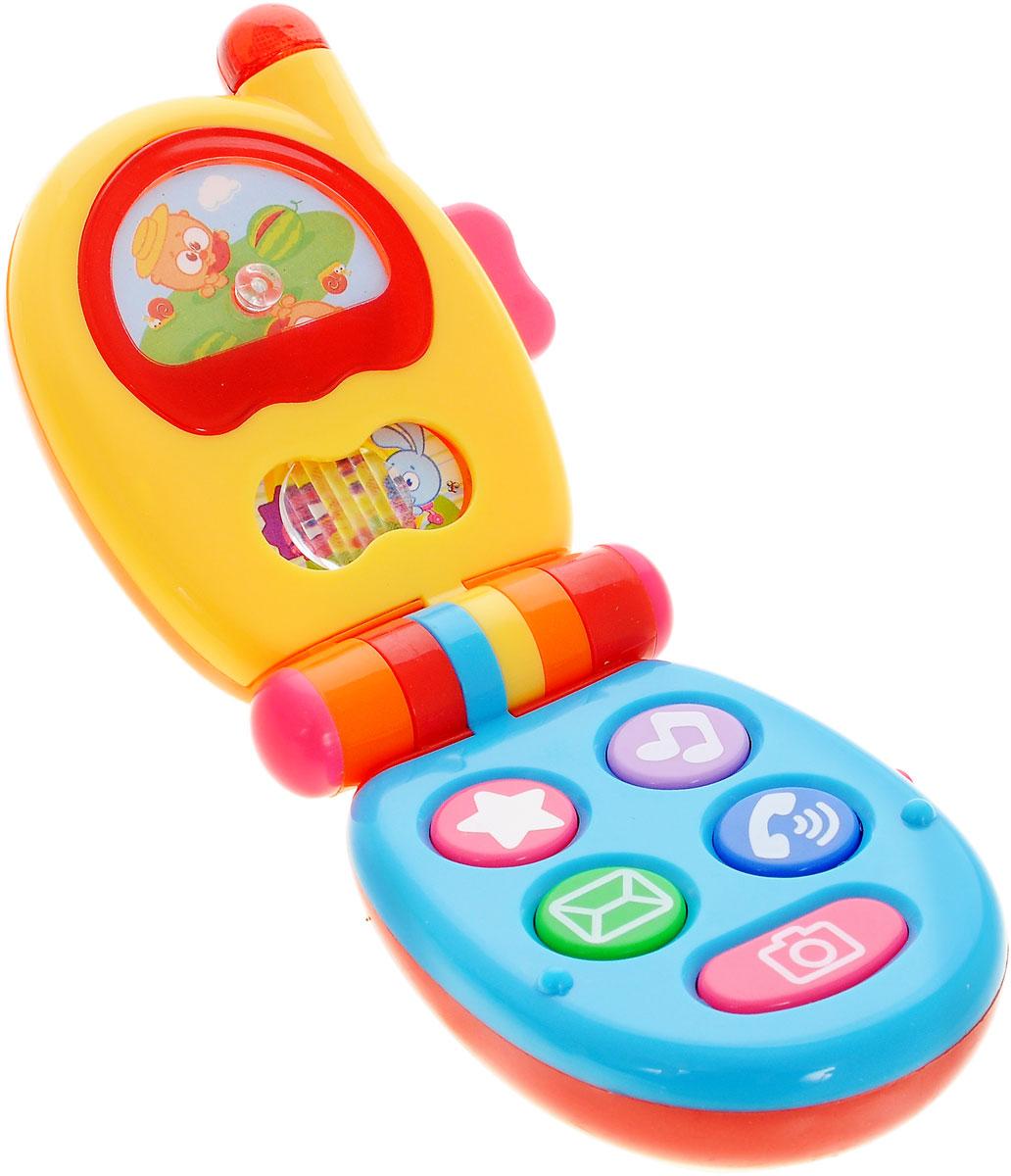 Малышарики Музыкальная игрушка Телефон цвет желтый голубойMSH0303-005Музыкальная игрушка Телефон со световыми и звуковыми эффектами обязательно порадует малыша. На поверхности телефона малыш обнаружит множество функциональных кнопочек и подвижную картинку, на которой изображены популярные мультгерои Малышарики. Выполненная в приятной цветовой гамме, игрушка имеет разнообразные интерактивные элементы, которые стимулируют развитие зрительного, слухового и тактильного восприятия ребенка. Необходимо докупить 2 батарейки напряжением 1,5V типа ААА (не входят в комплект).