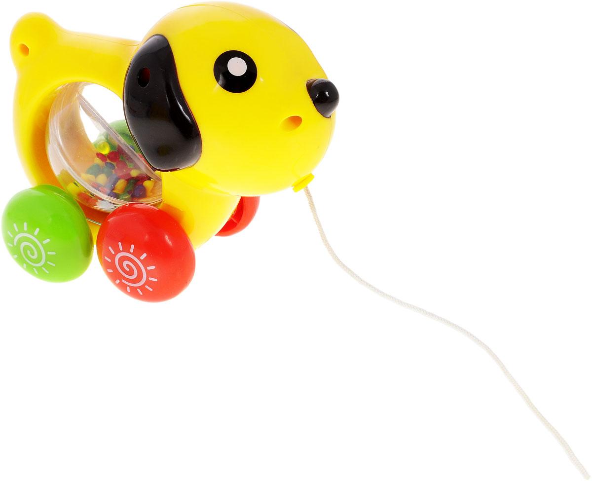 Малышарики Развивающая игрушка Питомец СобачкаMSH0303-018Развивающая игрушка Малышарики Питомец: Собачка поможет малышу ближе познакомиться с миром звуков. Игрушка выполнена в ярком дизайне в виде собачки, в туловище которой расположен прозрачный подвижный шар с маленькими шариками внутри. С первых месяцев жизни малыш начинает интересоваться яркими, подвижными предметами, ведь они являются его главными помощниками в изучении нашего удивительного мира. Забавная игрушка поможет малышу научиться фокусировать внимание. Игрушка развивает мелкую моторику рук, координацию движений, слух и цветовое восприятие. Рекомендуемый возраст от 1 до 3 лет. Рекомендуется докупить 3 батарейки типа AG13 (в комплект входят).