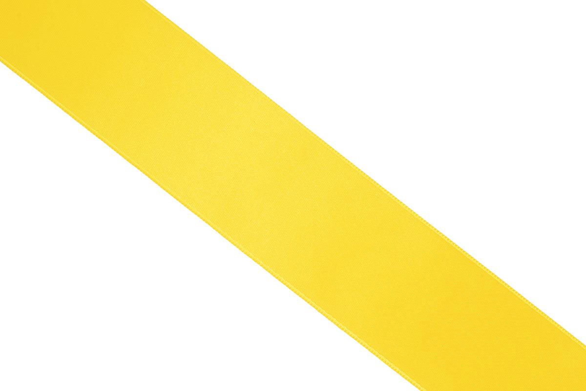 Лента атласная Prym, цвет: желтый, ширина 38 мм, длина 25 м695806_31Атласная лента Prym изготовлена из 100% полиэстера. Область применения атласной ленты весьма широка. Изделие предназначено для оформления цветочных букетов, подарочных коробок, пакетов. Кроме того, она с успехом применяется для художественного оформления витрин, праздничного оформления помещений, изготовления искусственных цветов. Ее также можно использовать для творчества в различных техниках, таких как скрапбукинг, оформление аппликаций, для украшения фотоальбомов, подарков, конвертов, фоторамок, открыток и многого другого. Ширина ленты: 38 мм. Длина ленты: 25 м.