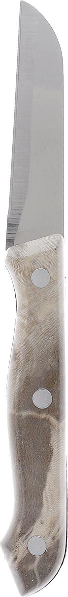 Нож кухонный Miolla, длина лезвия 7,5 см1508014UНож кухонный Miolla изготовлен из высококачественной стали. Очень удобная и эргономичная рукоятка, изготовленная из пластика, не позволит скользить ножу в руках и обеспечит безопасность при нарезке продуктов. Нож предназначен для нарезки и чистки овощей и фруктов. Можно мыть в посудомоечной машине. Длина ножа: 19 см.
