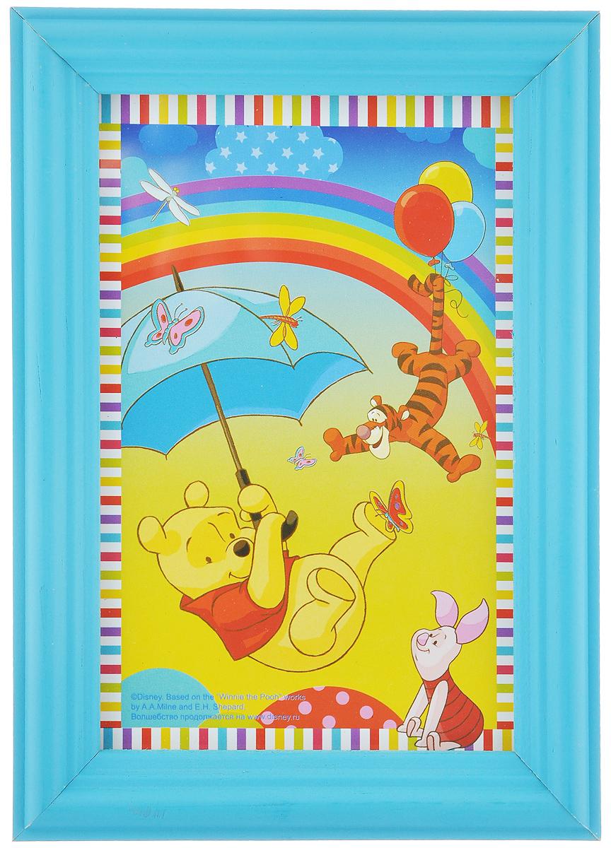Фоторамка Vertigo Disney, цвет: голубой, 10 х 15 см12582 WF-1073/582_голубойФоторамка Vertigo Disney выполнена из дерева и стекла, защищающего фотографию. Оборотная сторона рамки оснащена специальной ножкой, благодаря которой ее можно поставить на стол или любое другое место в доме или офисе. Также изделие оснащено специальными отверстиями для подвешивания на стену. Такая фоторамка поможет вам оригинально и стильно дополнить интерьер помещения, а также позволит сохранить память о дорогих вам людях и интересных событиях вашей жизни.
