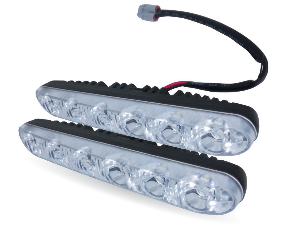 Дневные ходовые огни AVS DL-6B, 2 штA80748SДневные ходовые огни AVS DL-6B - это лампы грузового или легкового автомобиля, используемые для повышения видимости автотранспортного средства в дневное время. Напряжение: 12 В. Общая мощность: 12 Вт. Количество светодиодов: 6 х 2. Модель светодиода: Epistar (HP 1W). Температура свечения: 5000 К. Общий световой поток: 900 Лм. IP защита: 67 (6-полная защита от пыли, 7-защита от проникновения воды при кратковременном погружении на глубину до 1 метра).