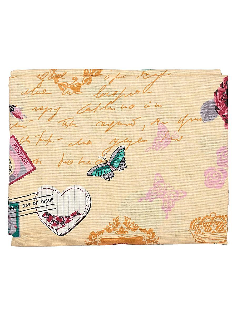 Скатерть Letto, прямоугольная, 145 x 180 см KSR15-180KSR15-180Скатерть Letto выполнена из 100% хлопка (рогожка) и декорирована красивым изображением надписей, цветов и бабочек. Изысканный дизайн дополнит интерьер, а натуральная мягкая ткань приятна на ощупь и обладает прекрасным впитывающим свойством. Оригинальная скатерть Letto - отличное приобретение для каждой хозяйки!