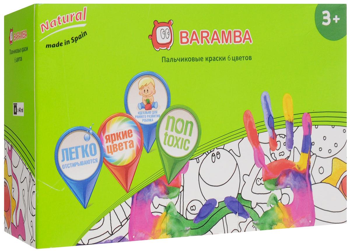 Baramba Краски пальчиковые 6 цветовB00536_Пальчиковые краски Baramba представляют собой набор красок 6-ти цветов. Густые краски на водной основе, не вытекающие из баночки, легко смываются и быстро сохнут. Рисовать можно пальцами, ладонями, ступнями, кисточкой. Краски легко отстирываются от одежды. Идеальны для раннего развития ребенка. Емкость баночки 40 мл.