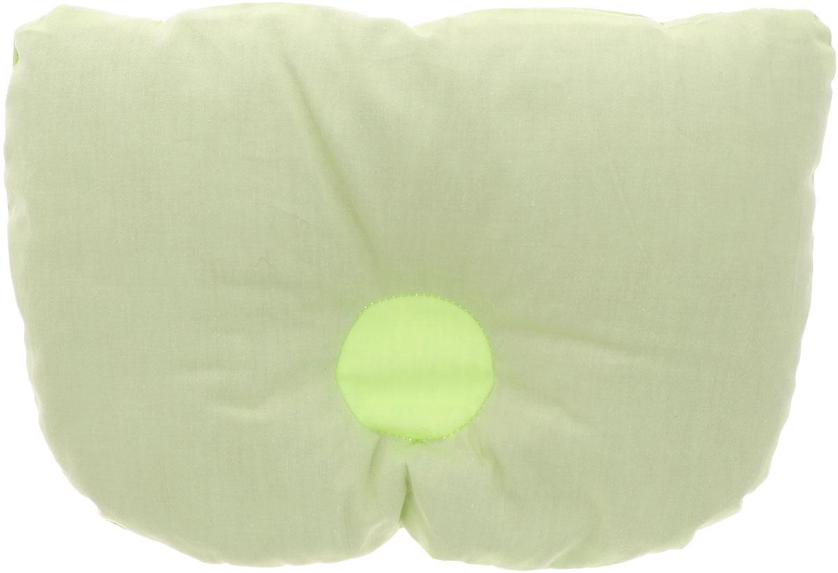 Био-подушка из лузги гречихи Тюльпанчик цвет салатовый 20 см х 30 смPG0034_салатовыйОртопедическая Био-подушка для новорожденных детей Тюльпанчик анатомической формы поддерживает голову и шею ребенка в фиксированном положении. Незаменима для детей, страдающих аллергией. Лузга в подушке целая и чистая, не содержит пыли и других примесей. В ней нет среды для обитания паразитов, а значит, нет и самих паразитов. Подушка имеет еще один замечательный эффект - естественную вентиляцию. Каждая лузга-пирамидка полая внутри, за счет чего в подушке свободно циркулируют воздушные потоки. Подушка поможет в формировании симметричной овальной формы головы, формированию правильного изгиба шейного позвонка, снизит гепертонус мышц шеи, плечевого пояса, эфирное масло рутин успокоит нервную систему. А в самую жаркую ночь ребенок чувствует свежесть и прохладу, его голова не потеет! Подушка поставляется в удобном пластиком чехле на застежке-молнии.