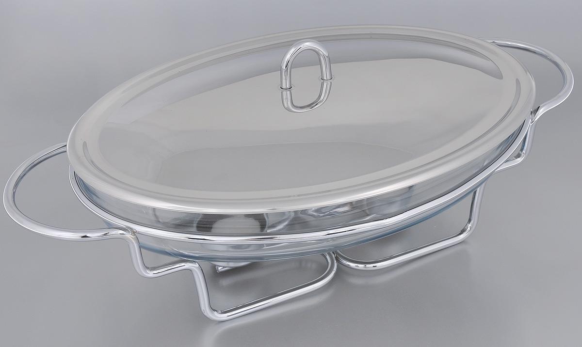 Набор для фондю Mayer & Boch, 5 предметов20882Набор для фондю Mayer & Boch станет не заменимым помощником на вашей кухне. В набор входят: - овальное блюдо, изготовленное из высокопрочного стекла Пирекс, - крышка из нержавеющей стали, - подставка, выполненная из металла с хромированным покрытием, - 2 свечи-таблетки. Блюдо, наполненное сыром, будет постепенно нагреваться от горелки, и сыр будет растапливаться. Обычай приглашать на фондю пришел из Швейцарии. Зимой в занесенных снегом домах альпийские фермеры готовили из того, что было у них под рукой, в основном из подсохшего хлеба и сыра. В наши дни фондю имеет много вариантов, когда кроме хлеба подают кубики мяса, овощей или рыбы, а вместо сыра используют масло. Традиционно фондю устраивают вечером и приглашают небольшое количество гостей, которых рассаживают за столом, в центре которого располагается фондюшница, наполненная разогретым сыром, а рядом - кубики хлеба. Каждому гостю дают специальную вилку, на которую он...