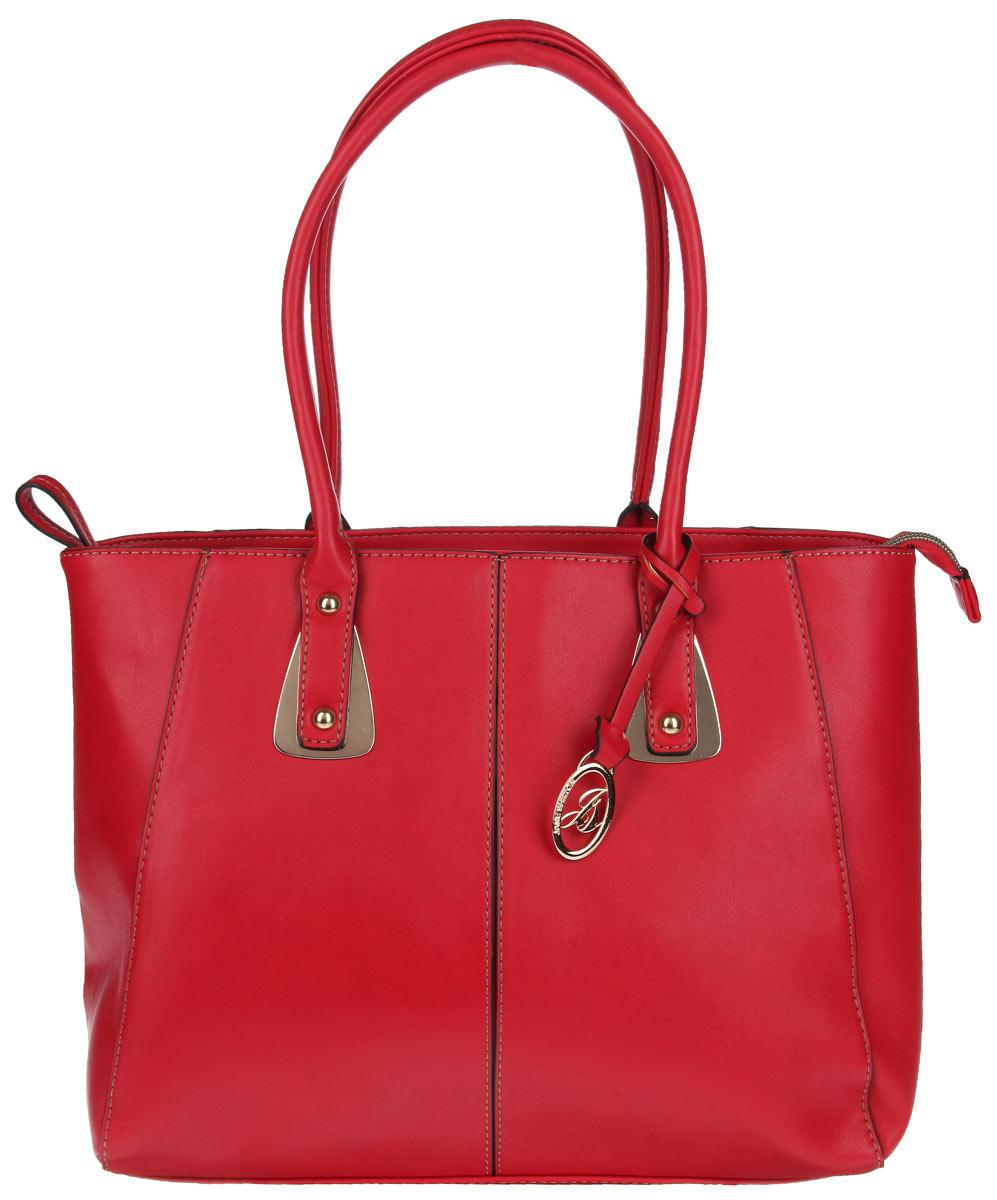 Сумка женская Jane Shilton, цвет: красный. 19261926redСтильная сумка Jane Shilton выполнена из искусственной кожи, оформлена металлической фурнитурой и подвеской с символикой бренда. Изделие содержит одно отделение, которое закрывается на застежку-молнию. Внутри изделия расположены врезной карман на застежке-молнии, карман-средник на молнии и накладной карман для телефона. Снаружи, на задней стороне сумки, расположен врезной карман на молнии. Сумка оснащена двумя практичными ручками, которые позволят носить изделие, как в руках, так и на плече. Ручки дополнены металлической фурнитурой. Оригинальный аксессуар позволит вам завершить образ и быть неотразимой.
