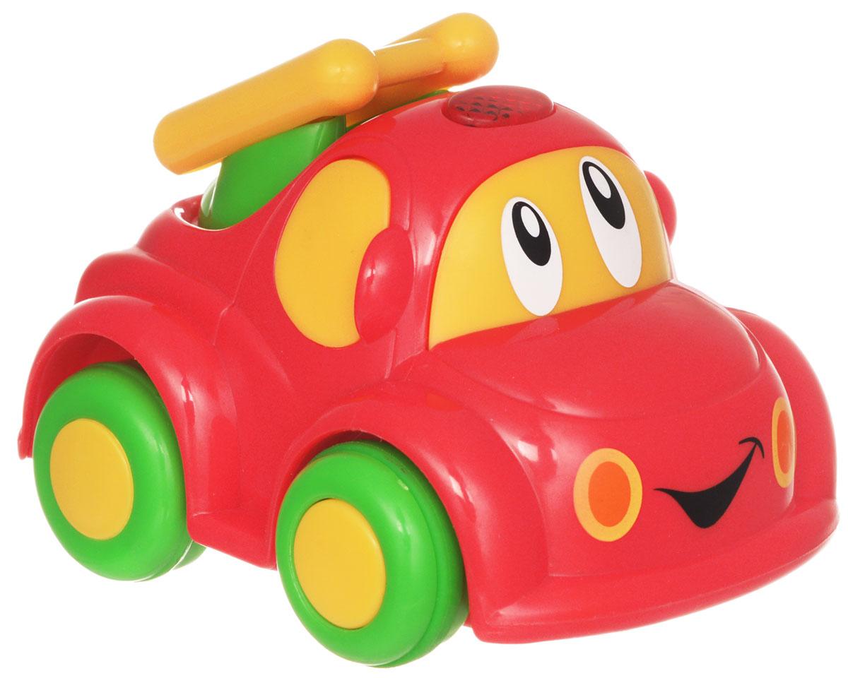 Simba Машинка на радиоуправлении цвет красный4014726_красныйРадиоуправляемая машинка от Simba обязательно привлечет внимание вашего малыша. Веселая машинка с глазастой мордочкой и пультом дистанционного управления непременно понравится маленькому автолюбителю. Она изготовлена из высококачественной пластмассы и очень проста в управлении. Пульт имеет всего две кнопки: вперед и разворот. Ваш ребенок весело проведет время, играя с машинкой на пульте управления. Порадуйте своего малыша таким замечательным подарком! Для работы машинки требуются 2 батарейки типа R03 (не входят в комплект). Для работы пульта требуются 2 батарейки типа R6 (не входят в комплект).