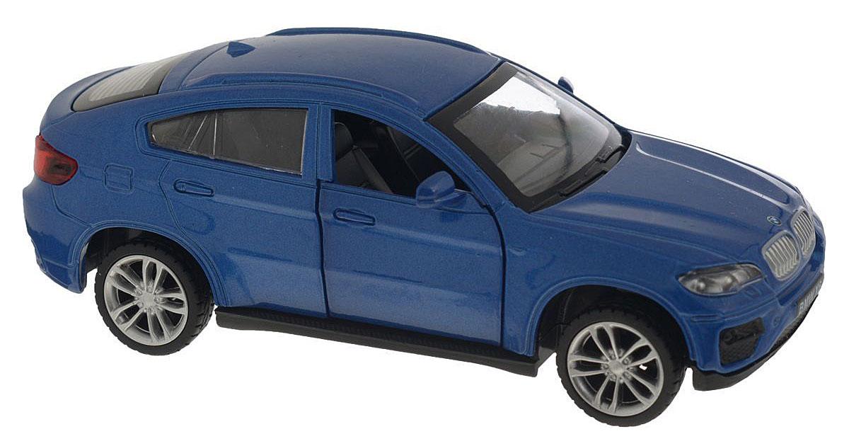 ТехноПарк Модель автомобиля BMW X6 цвет синий67313_синийКоллекционная модель ТехноПарк BMW X6 выполнена в масштабе 1:43 и в точности воспроизводит все детали внешнего облика реального великолепного автомобиля, производимого знаменитой компанией BMW. Модель изготовлена из металла с использованием пластика и оборудована открывающимися дверцами и инерционным ходом. Ее необходимо отвести назад, затем отпустить - и она быстро поедет вперед. Коллекционная модель BMW X6 будет отлично смотреться в качестве оригинального подарка не только любителю автомобилей, но и человеку, ценящему стиль и изысканность, а качество исполнения представит такой подарок в самом лучшем свете.
