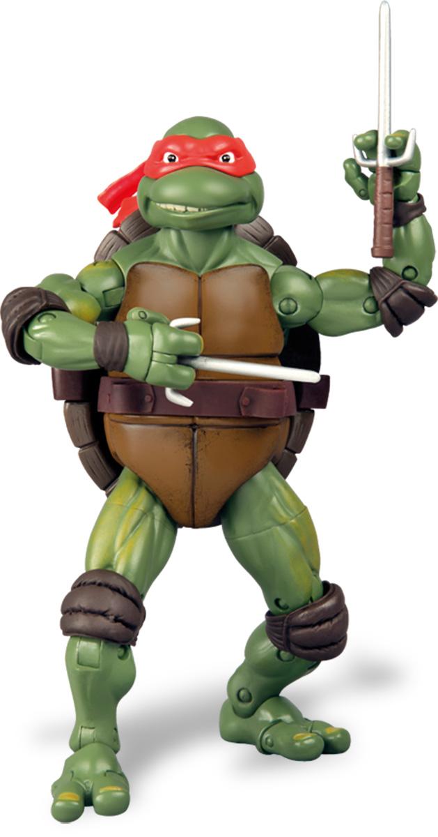 Черепашки Ниндзя Фигурка классическая Рафаэль91091Фигурка Turtles Рафаэль станет прекрасным подарком для вашего ребенка. Она выполнена из прочного пластика в виде персонажа команды TMNT - Черепашки-Ниндзя. Голова, руки, ноги и верхняя часть туловища фигурки подвижны, что позволит придавать Рафаэлю различные позы. В комплект входит детализированное оружие и именная подставка в виде крышки люка. Ваш ребенок будет часами играть с этой фигуркой, придумывая различные истории с участием любимого героя. Они подверглись мутации и обучались искусству ниндзюцу у великого сэнсэя Сплинтера. Черепашки-Ниндзя готовы выбраться из своего секретного убежища и спасти мир от сил зла! Черепашки-Ниндзя впервые появились на страницах комиксов в далеких 80-х. Черепашки перебрались на телевидение по воле студии Murakami-Wolf-Swenson (MWS) и продолжали радовать своих поклонников в течение десяти лет (1987-1996). 5 лет подряд были признаны сериалом №1. За это время было показано более 190 эпизодов, а озорные и веселые герои успели...