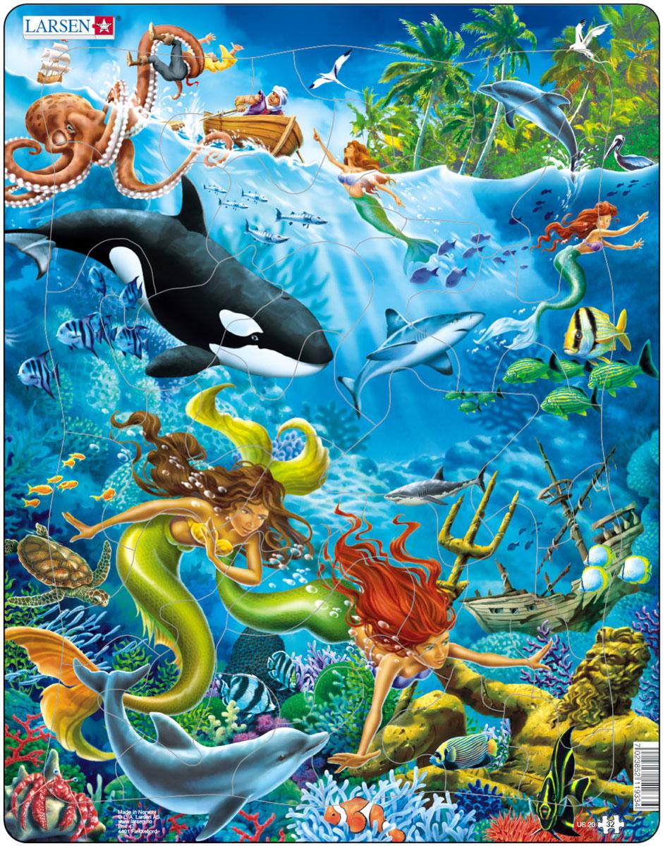 Larsen Пазл РусалкиUS20Пазл Larsen Русалки расскажет о жизни подводного царства с необычными обитателями. Выполненные из высококачественного трехслойного картона, пазлы не деформируются и легко берутся в руки. Все пазлы снабжены специальной подложкой, благодаря чему их удобно собирать. Размер готового пазла: 36,5 см х 28,5 см.