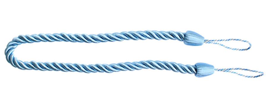 Подхват для штор Goodliving Шнур, цвет: голубой (64), 2 шт7711742_64 голубойПодхват для штор Goodliving Шнур выполнен в виде витого шнура, на обоих концах которого имеются петли для крепления подхвата на крючок. Подхват - это основной вид фурнитуры в декоре штор, сочетающий в себе не только декоративную функцию, но и практическую - регулировать поток света. Подхваты способны украсить любую комнату. Длина подхвата: 52 см. Диаметр подхвата: 1,5 см.