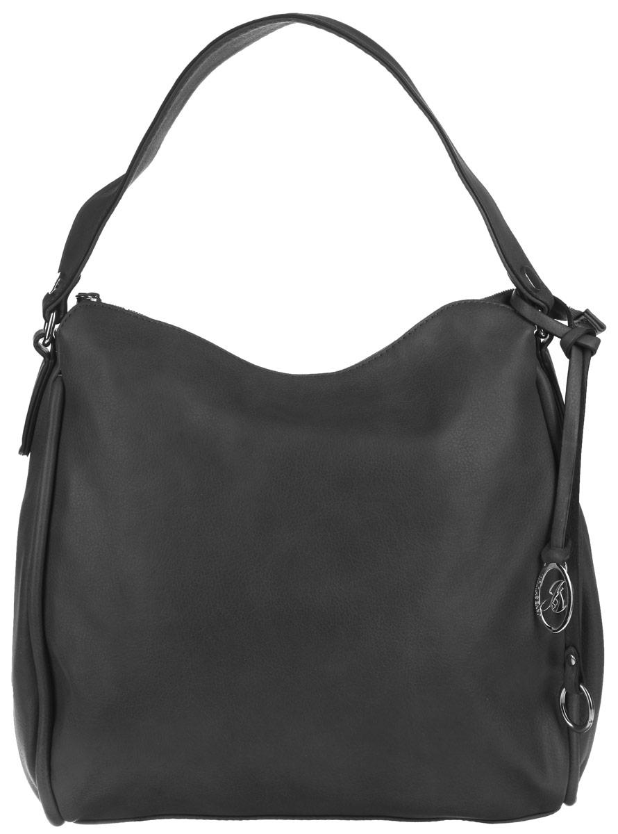 Сумка женская Jane Shilton, цвет: черный. 19201920blСтильная сумка Jane Shilton выполнена из искусственной кожи, оформлена металлической фурнитурой и подвеской с символикой бренда. Изделие содержит одно отделение, которое закрывается на молнию. Внутри изделия расположены: врезной карман на застежке-молнии и накладной карман для телефона. Снаружи, на задней стенке сумки, расположен врезной карман на молнии. Сумка оснащена практичной ручкой, которая позволит носить изделие, как в руках, так и на плече. Оригинальный аксессуар позволит вам завершить образ и быть неотразимой.
