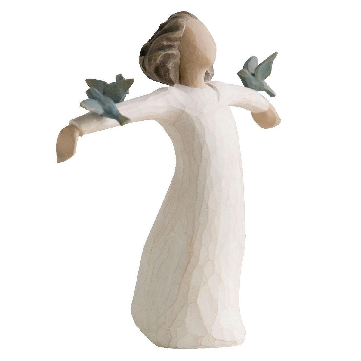 Фигурка Willow Tree Счастье, 13 см26130Эти прекрасные статуэтки созданы канадским скульптором Сьюзан Лорди. Каждая фигурка – это настоящее произведение искусства, образная скульптура в миниатюре, изображающая эмоции и чувства, которые помогают нам чувствовать себя ближе к другим, верить в мечту, выражать любовь. Каждая фигурка помещена в красивую упаковку. Купить такой оригинальный подарок, значит не только украсить интерьер помещения или жилой комнаты, но выразить свое глубокое отношение к любимому человеку. Этот прекрасный сувенир будет лучшим подарком на день ангела, именины, день рождения, юбилей. Материал: Искусственный камень (49% карбонат кальция мелкозернистой разновидности, 51% искусственный камень)
