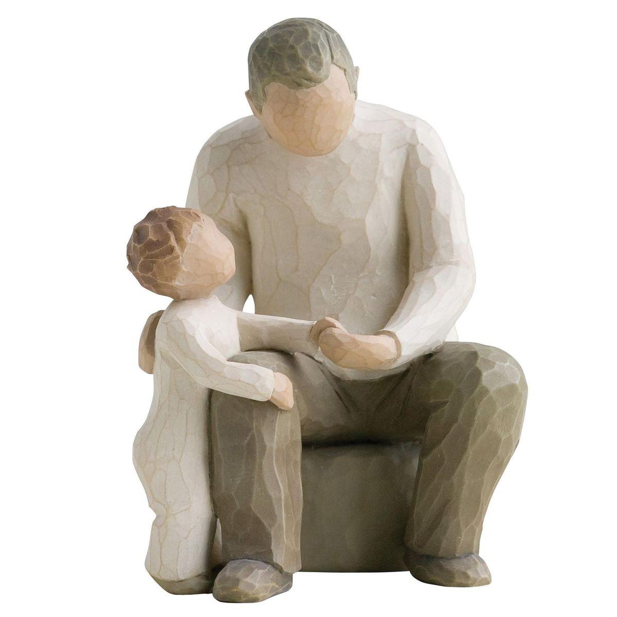 Фигурка Willow Tree Дедушка, 14 см26058Эти прекрасные статуэтки созданы канадским скульптором Сьюзан Лорди. Каждая фигурка – это настоящее произведение искусства, образная скульптура в миниатюре, изображающая эмоции и чувства, которые помогают нам чувствовать себя ближе к другим, верить в мечту, выражать любовь. Каждая фигурка помещена в красивую упаковку. Купить такой оригинальный подарок, значит не только украсить интерьер помещения или жилой комнаты, но выразить свое глубокое отношение к любимому человеку. Этот прекрасный сувенир будет лучшим подарком на день ангела, именины, день рождения, юбилей. Материал: Искусственный камень (49% карбонат кальция мелкозернистой разновидности, 51% искусственный камень)