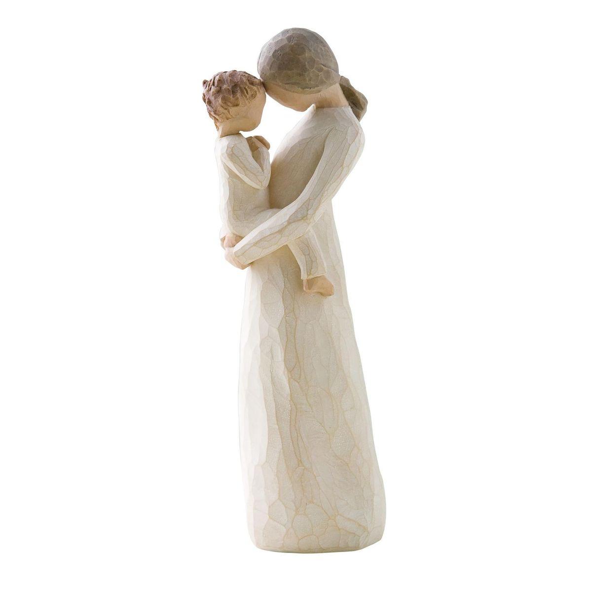 Фигурка Willow Tree Нежность, 21 см26073Эти прекрасные статуэтки созданы канадским скульптором Сьюзан Лорди. Каждая фигурка – это настоящее произведение искусства, образная скульптура в миниатюре, изображающая эмоции и чувства, которые помогают нам чувствовать себя ближе к другим, верить в мечту, выражать любовь. Каждая фигурка помещена в красивую упаковку. Купить такой оригинальный подарок, значит не только украсить интерьер помещения или жилой комнаты, но выразить свое глубокое отношение к любимому человеку. Этот прекрасный сувенир будет лучшим подарком на день ангела, именины, день рождения, юбилей. Материал: Искусственный камень (49% карбонат кальция мелкозернистой разновидности, 51% искусственный камень)