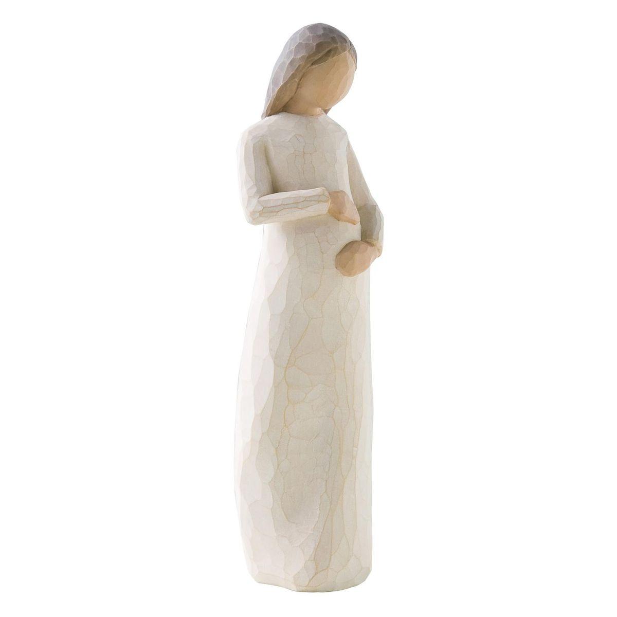 Фигурка Willow Tree В ожидании чуда, 21 см26082Эти прекрасные статуэтки созданы канадским скульптором Сьюзан Лорди. Каждая фигурка – это настоящее произведение искусства, образная скульптура в миниатюре, изображающая эмоции и чувства, которые помогают нам чувствовать себя ближе к другим, верить в мечту, выражать любовь. Каждая фигурка помещена в красивую упаковку. Купить такой оригинальный подарок, значит не только украсить интерьер помещения или жилой комнаты, но выразить свое глубокое отношение к любимому человеку. Этот прекрасный сувенир будет лучшим подарком на день ангела, именины, день рождения, юбилей. Материал: Искусственный камень (49% карбонат кальция мелкозернистой разновидности, 51% искусственный камень)
