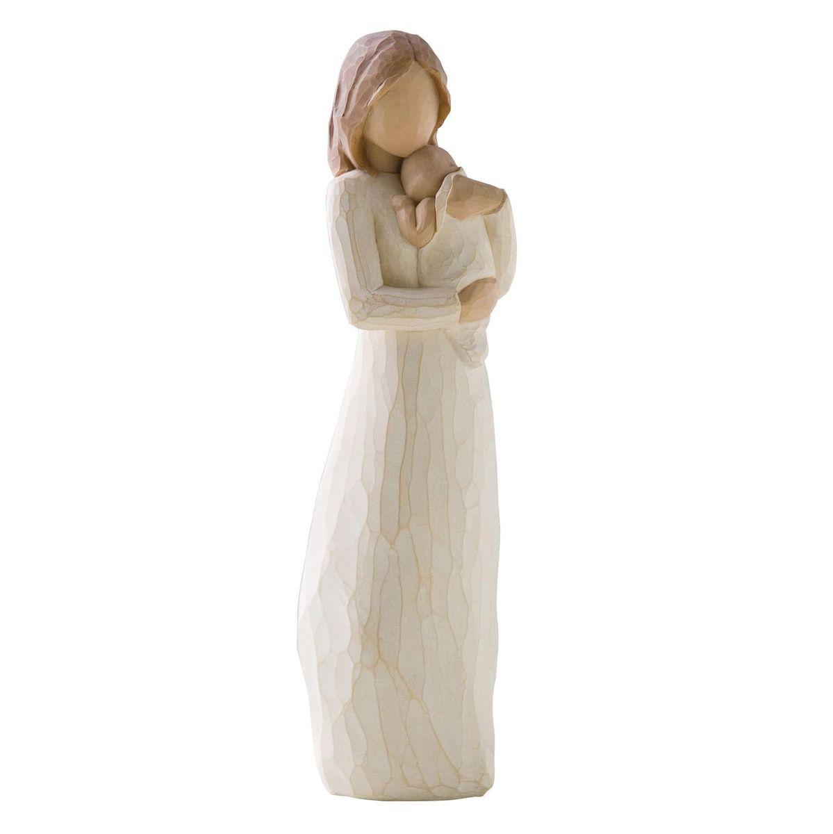 Фигурка Willow Tree Мой ангелочек, 22 см26124Эти прекрасные статуэтки созданы канадским скульптором Сьюзан Лорди. Каждая фигурка – это настоящее произведение искусства, образная скульптура в миниатюре, изображающая эмоции и чувства, которые помогают нам чувствовать себя ближе к другим, верить в мечту, выражать любовь. Каждая фигурка помещена в красивую упаковку. Купить такой оригинальный подарок, значит не только украсить интерьер помещения или жилой комнаты, но выразить свое глубокое отношение к любимому человеку. Этот прекрасный сувенир будет лучшим подарком на день ангела, именины, день рождения, юбилей. Материал: Искусственный камень (49% карбонат кальция мелкозернистой разновидности, 51% искусственный камень)