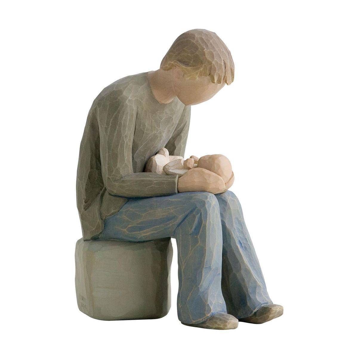 Фигурка Willow Tree Стать отцом, 14 см26129Эти прекрасные статуэтки созданы канадским скульптором Сьюзан Лорди. Каждая фигурка – это настоящее произведение искусства, образная скульптура в миниатюре, изображающая эмоции и чувства, которые помогают нам чувствовать себя ближе к другим, верить в мечту, выражать любовь. Каждая фигурка помещена в красивую упаковку. Купить такой оригинальный подарок, значит не только украсить интерьер помещения или жилой комнаты, но выразить свое глубокое отношение к любимому человеку. Этот прекрасный сувенир будет лучшим подарком на день ангела, именины, день рождения, юбилей. Материал: Искусственный камень (49% карбонат кальция мелкозернистой разновидности, 51% искусственный камень)