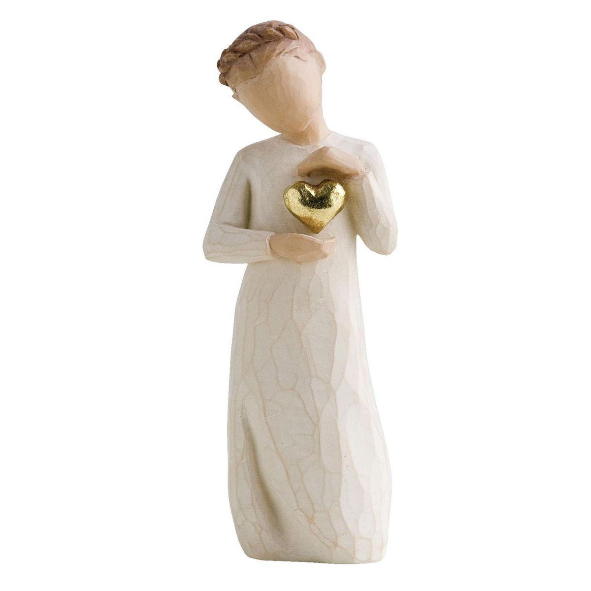 Фигурка Willow Tree Память, девочка 13,5 см.26132Эти прекрасные статуэтки созданы канадским скульптором Сьюзан Лорди. Каждая фигурка – это настоящее произведение искусства, образная скульптура в миниатюре, изображающая эмоции и чувства, которые помогают нам чувствовать себя ближе к другим, верить в мечту, выражать любовь. Каждая фигурка помещена в красивую упаковку. Купить такой оригинальный подарок, значит не только украсить интерьер помещения или жилой комнаты, но выразить свое глубокое отношение к любимому человеку. Этот прекрасный сувенир будет лучшим подарком на день ангела, именины, день рождения, юбилей. Материал: Искусственный камень (49% карбонат кальция мелкозернистой разновидности, 51% искусственный камень)