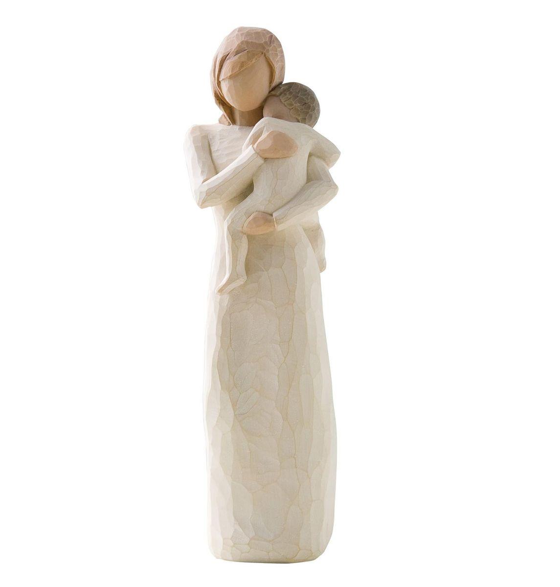 Фигурка Willow Tree Дитя моего сердца, 22 см26169Эти прекрасные статуэтки созданы канадским скульптором Сьюзан Лорди. Каждая фигурка – это настоящее произведение искусства, образная скульптура в миниатюре, изображающая эмоции и чувства, которые помогают нам чувствовать себя ближе к другим, верить в мечту, выражать любовь. Каждая фигурка помещена в красивую упаковку. Купить такой оригинальный подарок, значит не только украсить интерьер помещения или жилой комнаты, но выразить свое глубокое отношение к любимому человеку. Этот прекрасный сувенир будет лучшим подарком на день ангела, именины, день рождения, юбилей. Материал: Искусственный камень (49% карбонат кальция мелкозернистой разновидности, 51% искусственный камень)