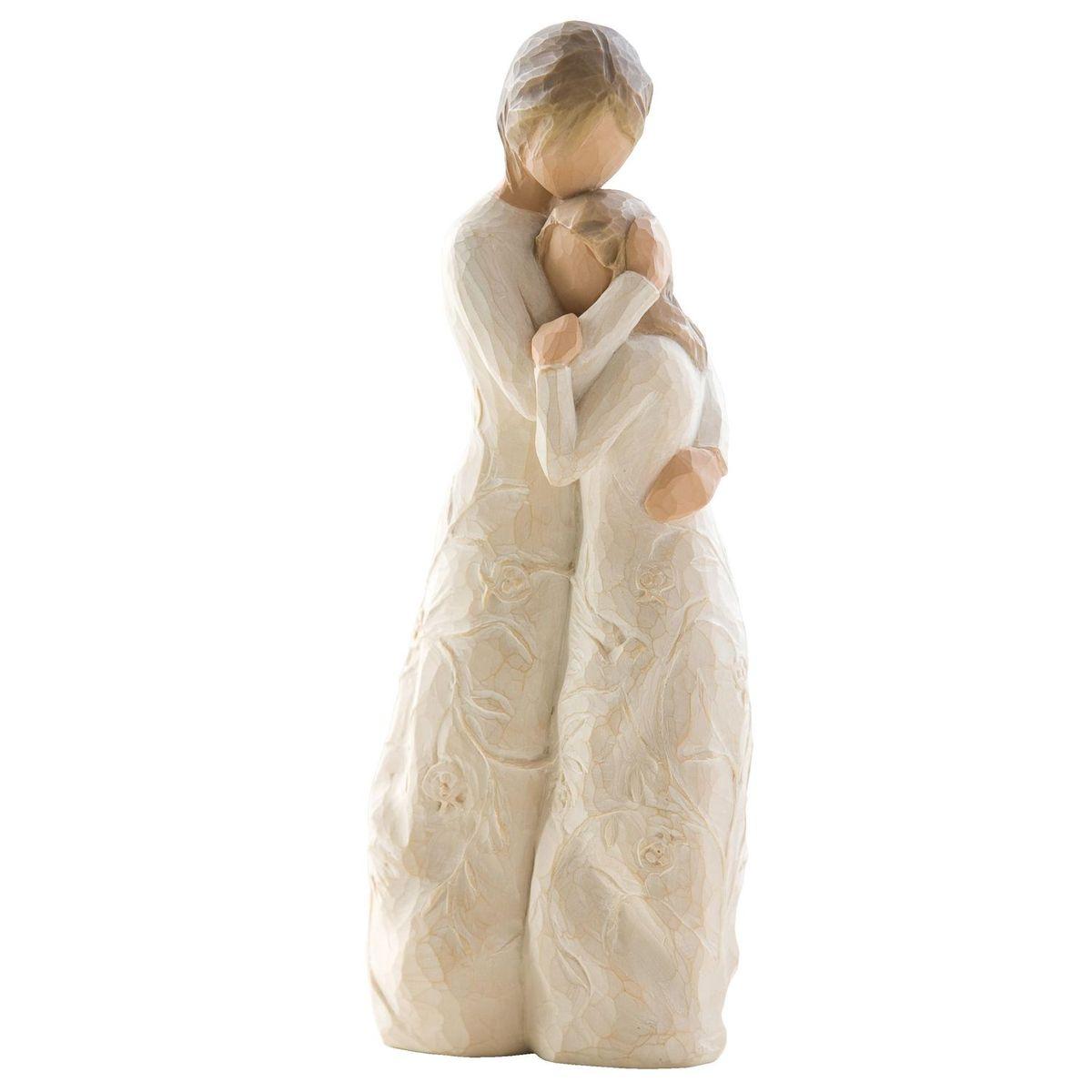 Фигурка Willow Tree Близость, 20 см26222Эти прекрасные статуэтки созданы канадским скульптором Сьюзан Лорди. Каждая фигурка – это настоящее произведение искусства, образная скульптура в миниатюре, изображающая эмоции и чувства, которые помогают нам чувствовать себя ближе к другим, верить в мечту, выражать любовь. Каждая фигурка помещена в красивую упаковку. Купить такой оригинальный подарок, значит не только украсить интерьер помещения или жилой комнаты, но выразить свое глубокое отношение к любимому человеку. Этот прекрасный сувенир будет лучшим подарком на день ангела, именины, день рождения, юбилей. Материал: Искусственный камень (49% карбонат кальция мелкозернистой разновидности, 51% искусственный камень)