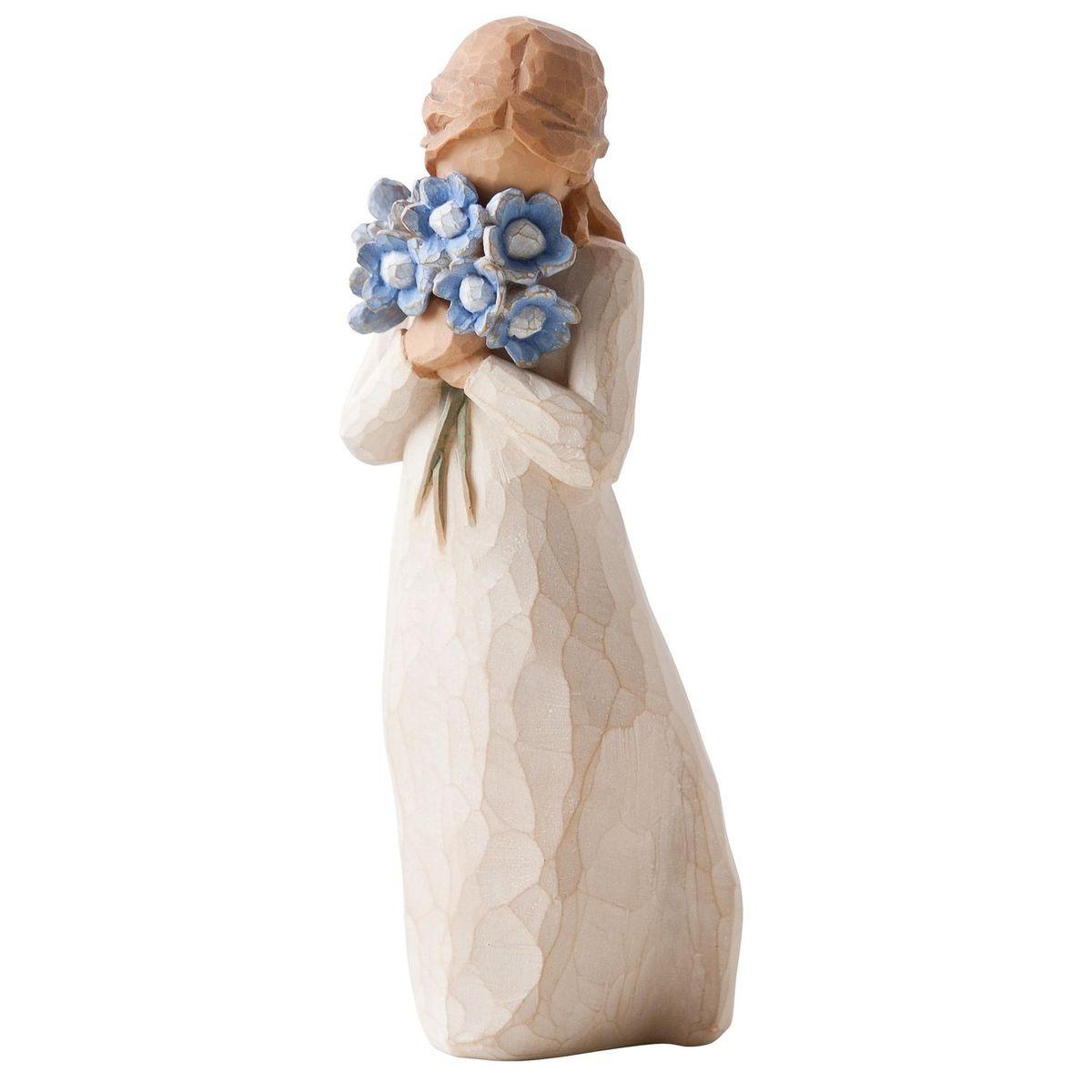 Фигурка Willow Tree Не забывай меня, 13,5 см26454Эти прекрасные статуэтки созданы канадским скульптором Сьюзан Лорди. Каждая фигурка – это настоящее произведение искусства, образная скульптура в миниатюре, изображающая эмоции и чувства, которые помогают нам чувствовать себя ближе к другим, верить в мечту, выражать любовь. Каждая фигурка помещена в красивую упаковку. Купить такой оригинальный подарок, значит не только украсить интерьер помещения или жилой комнаты, но выразить свое глубокое отношение к любимому человеку. Этот прекрасный сувенир будет лучшим подарком на день ангела, именины, день рождения, юбилей. Материал: Искусственный камень (49% карбонат кальция мелкозернистой разновидности, 51% искусственный камень)