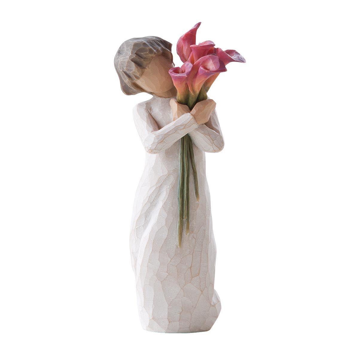 Фигурка Willow Tree Расцветать, 14 см27159Эти прекрасные статуэтки созданы канадским скульптором Сьюзан Лорди. Каждая фигурка – это настоящее произведение искусства, образная скульптура в миниатюре, изображающая эмоции и чувства, которые помогают нам чувствовать себя ближе к другим, верить в мечту, выражать любовь. Каждая фигурка помещена в красивую упаковку. Купить такой оригинальный подарок, значит не только украсить интерьер помещения или жилой комнаты, но выразить свое глубокое отношение к любимому человеку. Этот прекрасный сувенир будет лучшим подарком на день ангела, именины, день рождения, юбилей. Материал: Искусственный камень (49% карбонат кальция мелкозернистой разновидности, 51% искусственный камень)